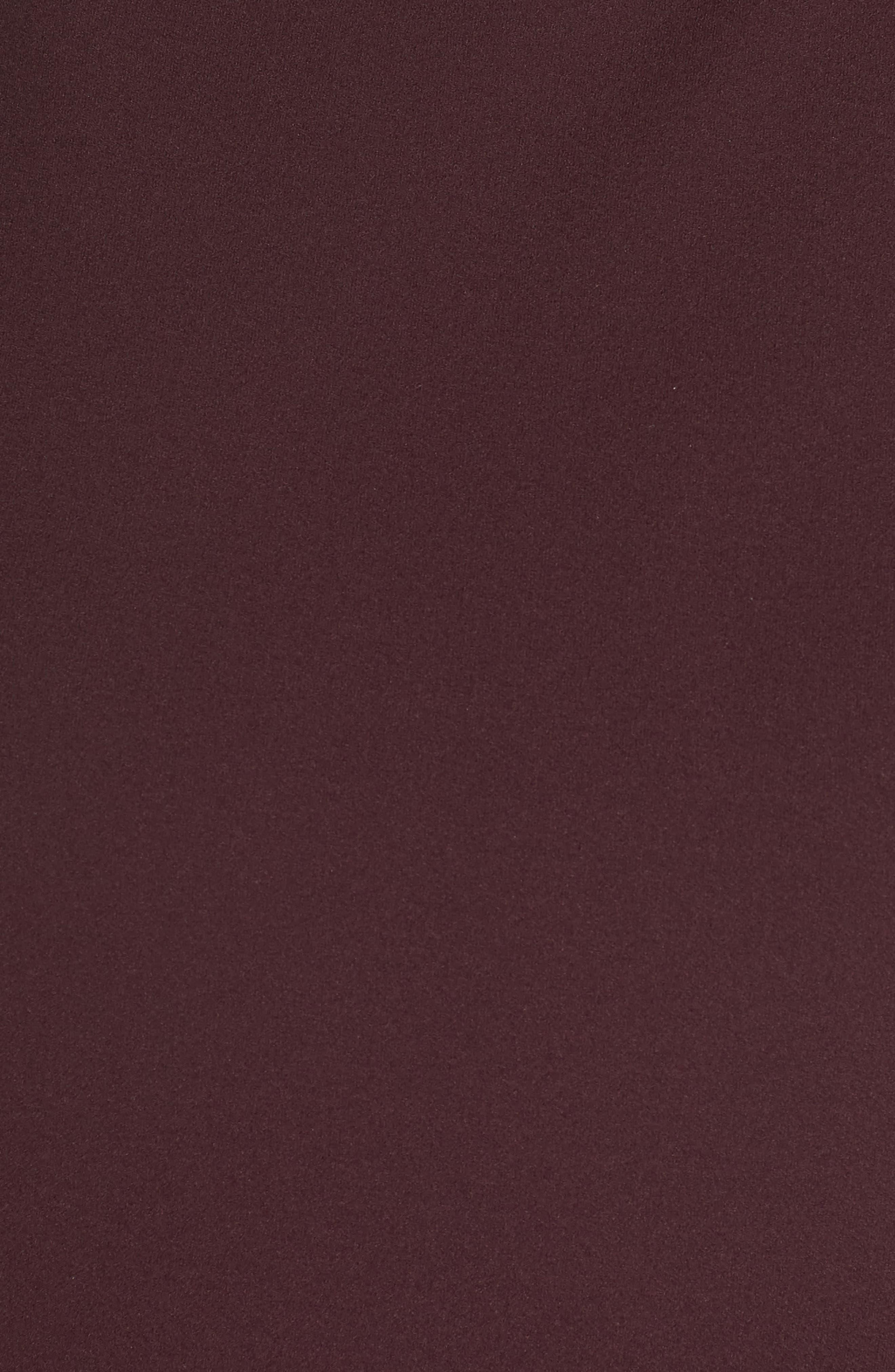High Neck Scuba Crepe A-Line Dress,                             Alternate thumbnail 6, color,                             FIG