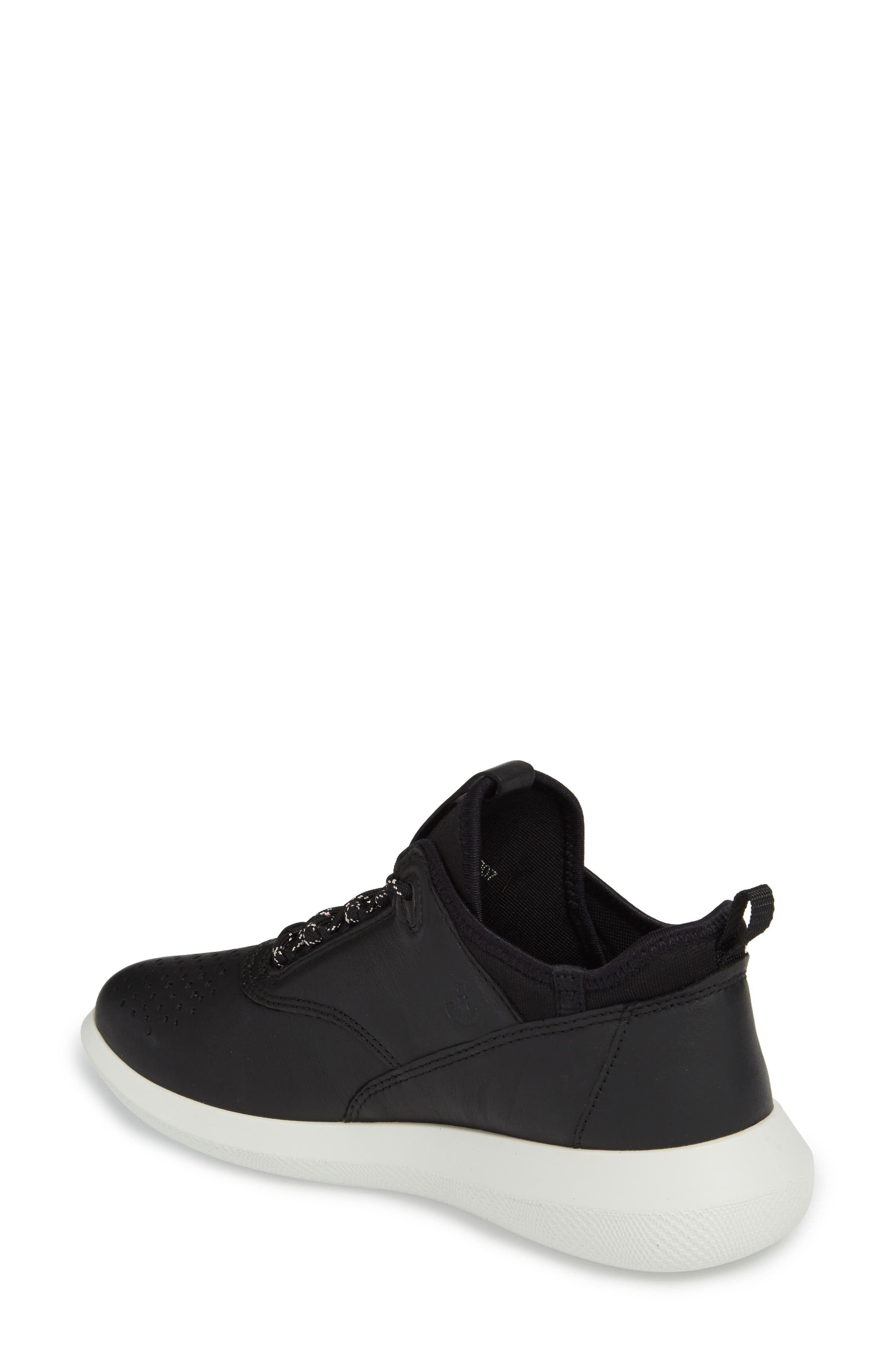 Scinapse Sneaker,                             Alternate thumbnail 2, color,                             BLACK LEATHER