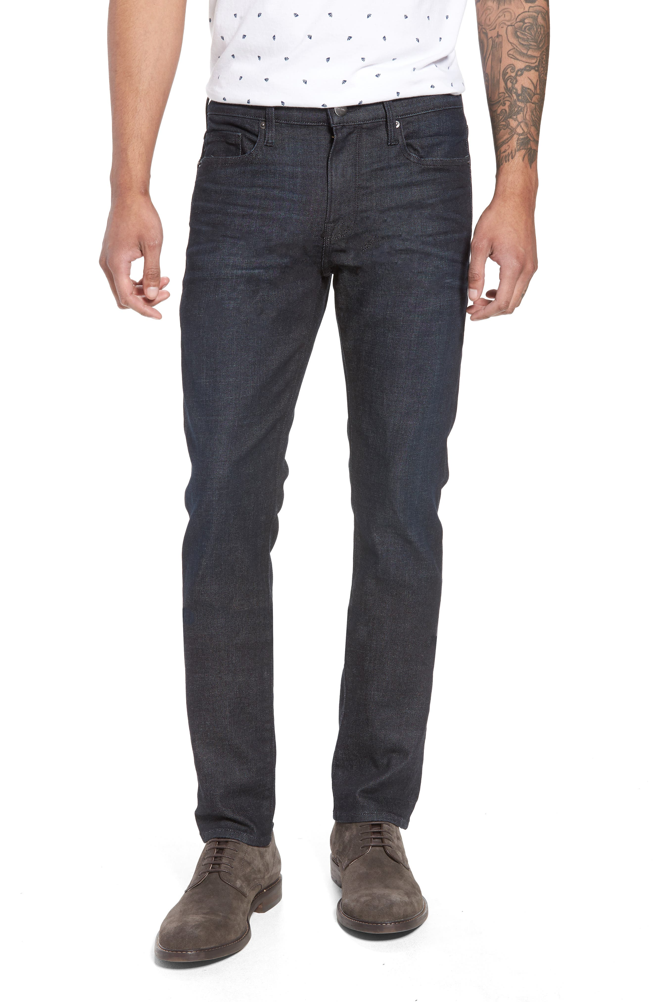 L'Homme Skinny Jeans,                             Main thumbnail 1, color,                             MANHATTAN
