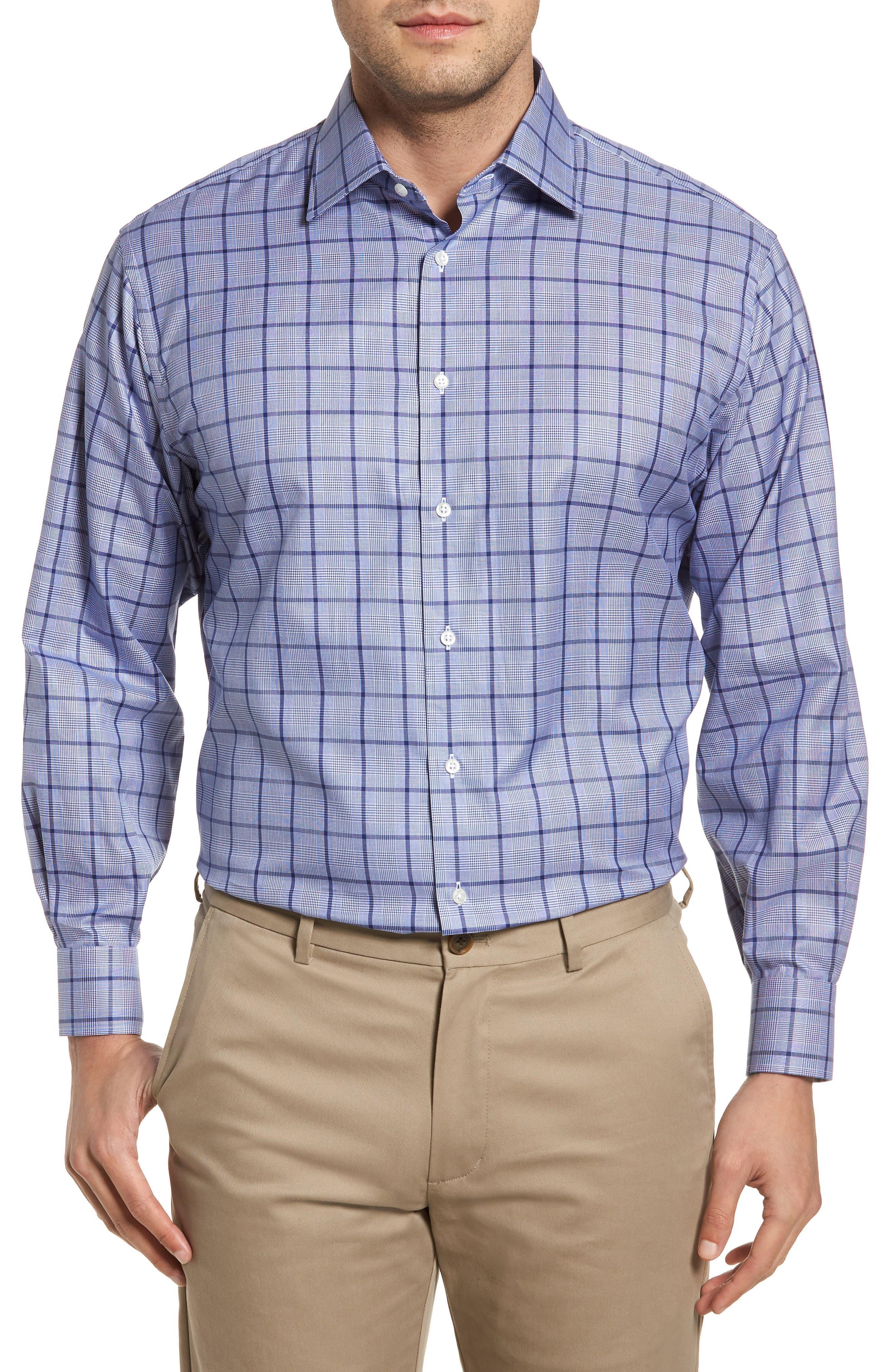 Classic Fit Check Dress Shirt,                             Main thumbnail 1, color,                             420