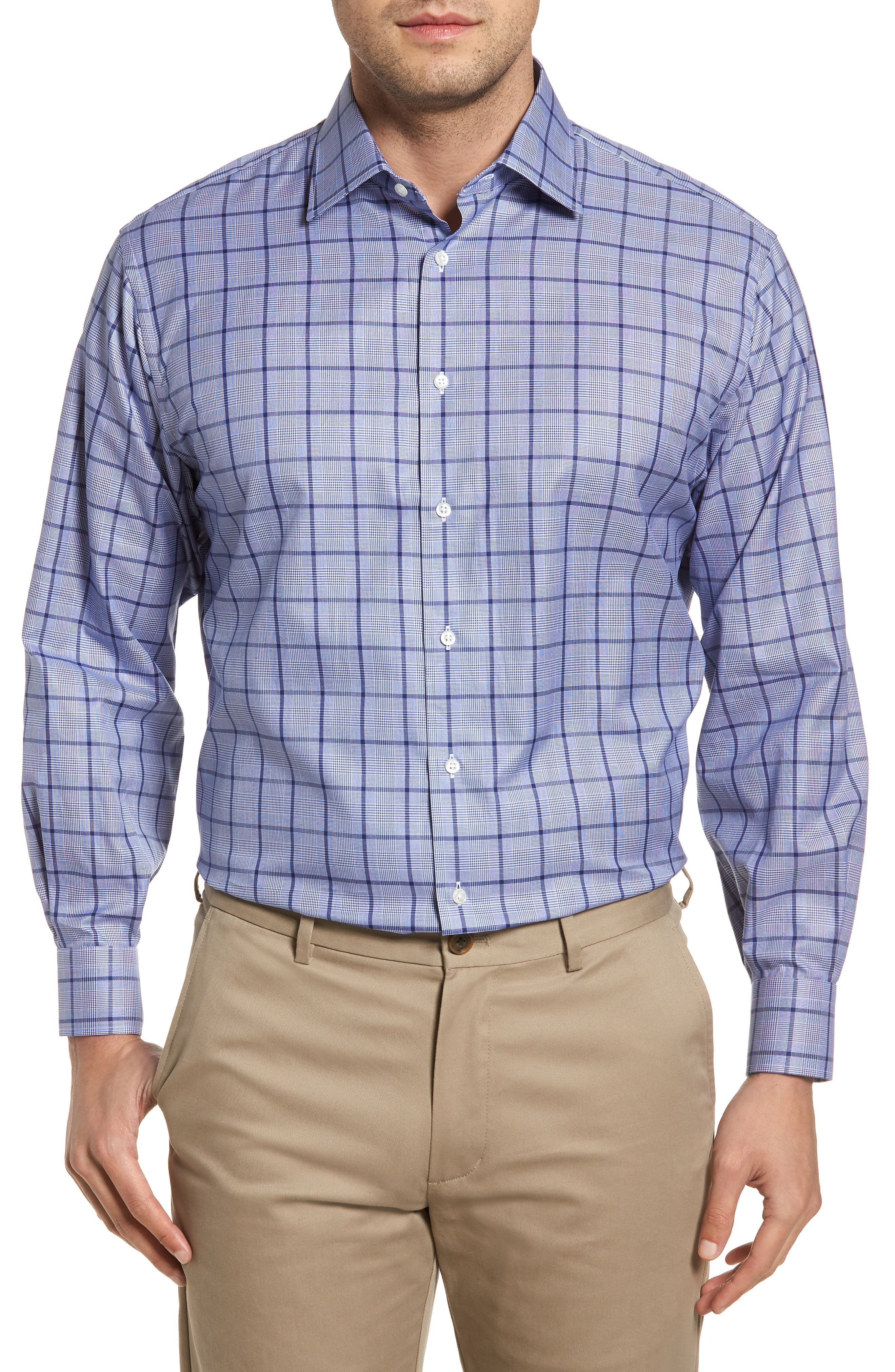 Classic Fit Check Dress Shirt,                         Main,                         color, 420