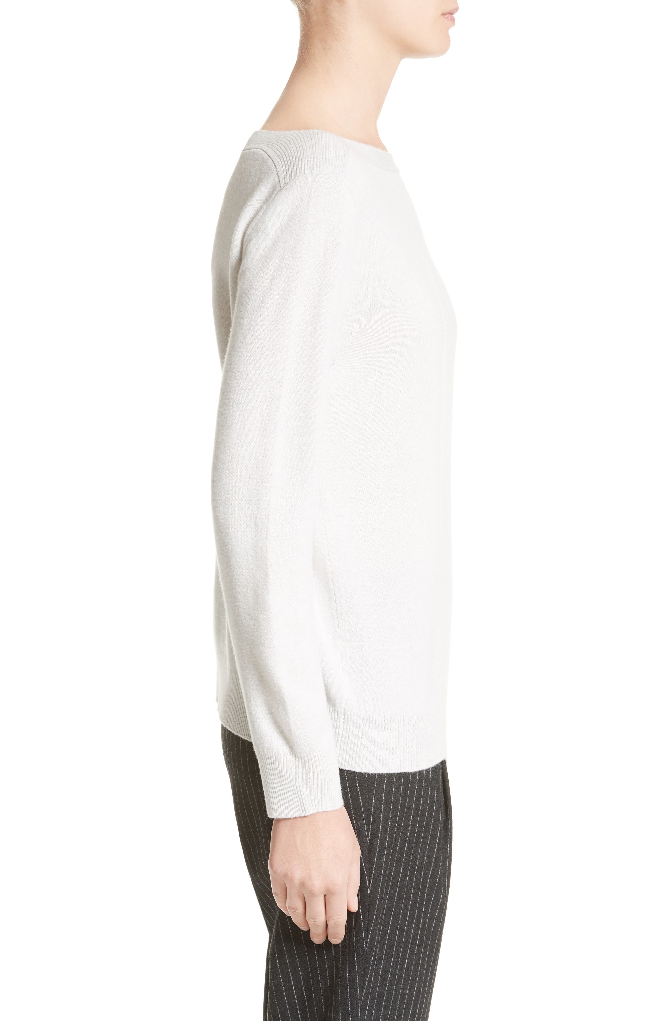 Wool, Silk & Cashmere Sweater,                             Alternate thumbnail 3, color,