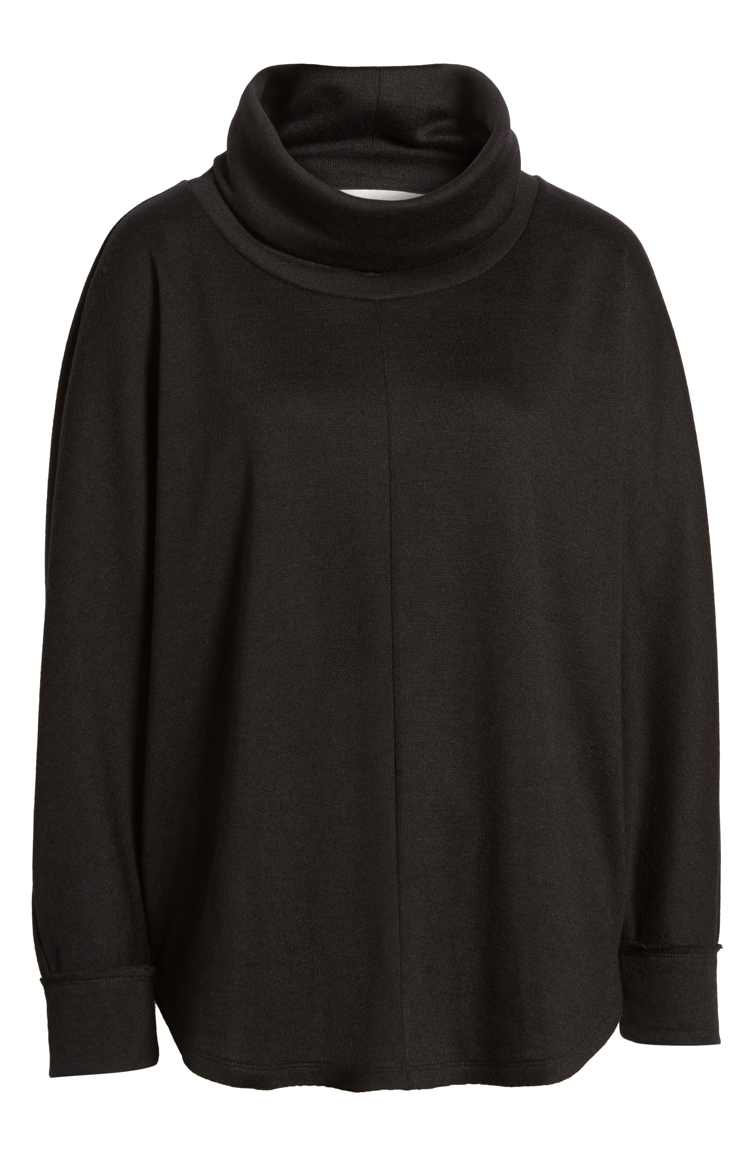 Cowl Neck Pullover,                             Alternate thumbnail 6, color,                             001