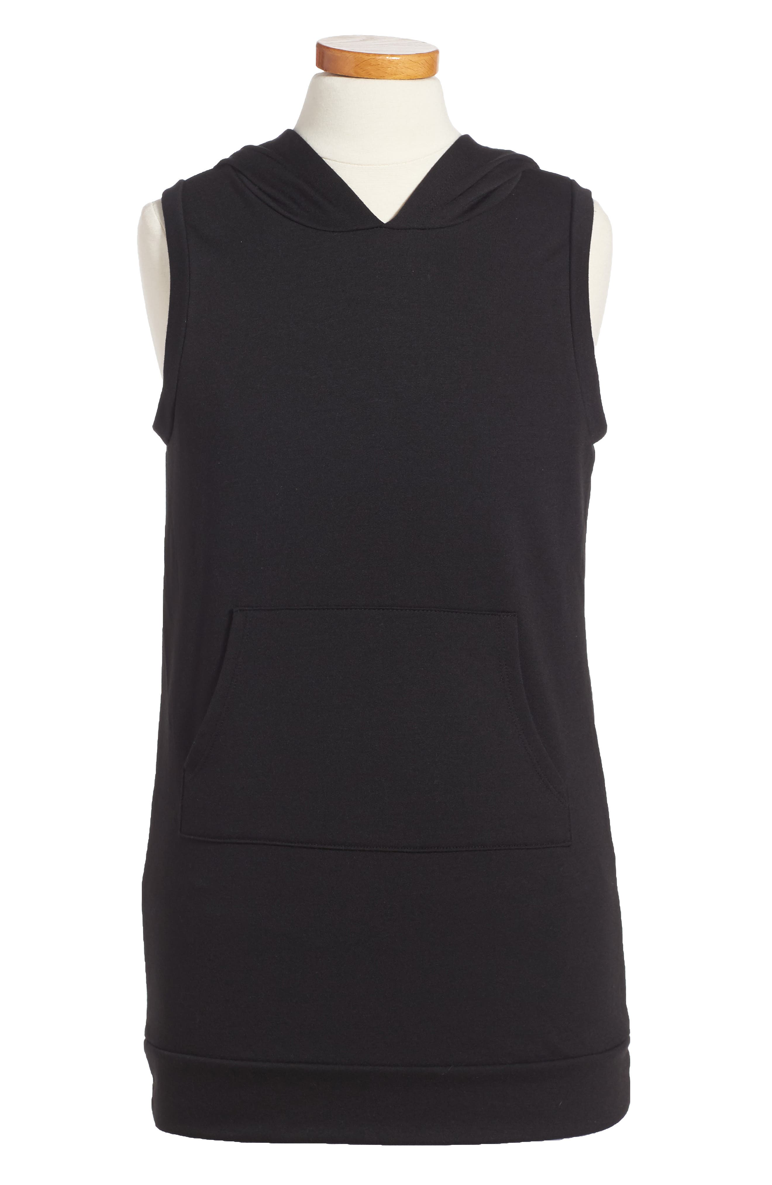 Hoodie Dress,                         Main,                         color, 001