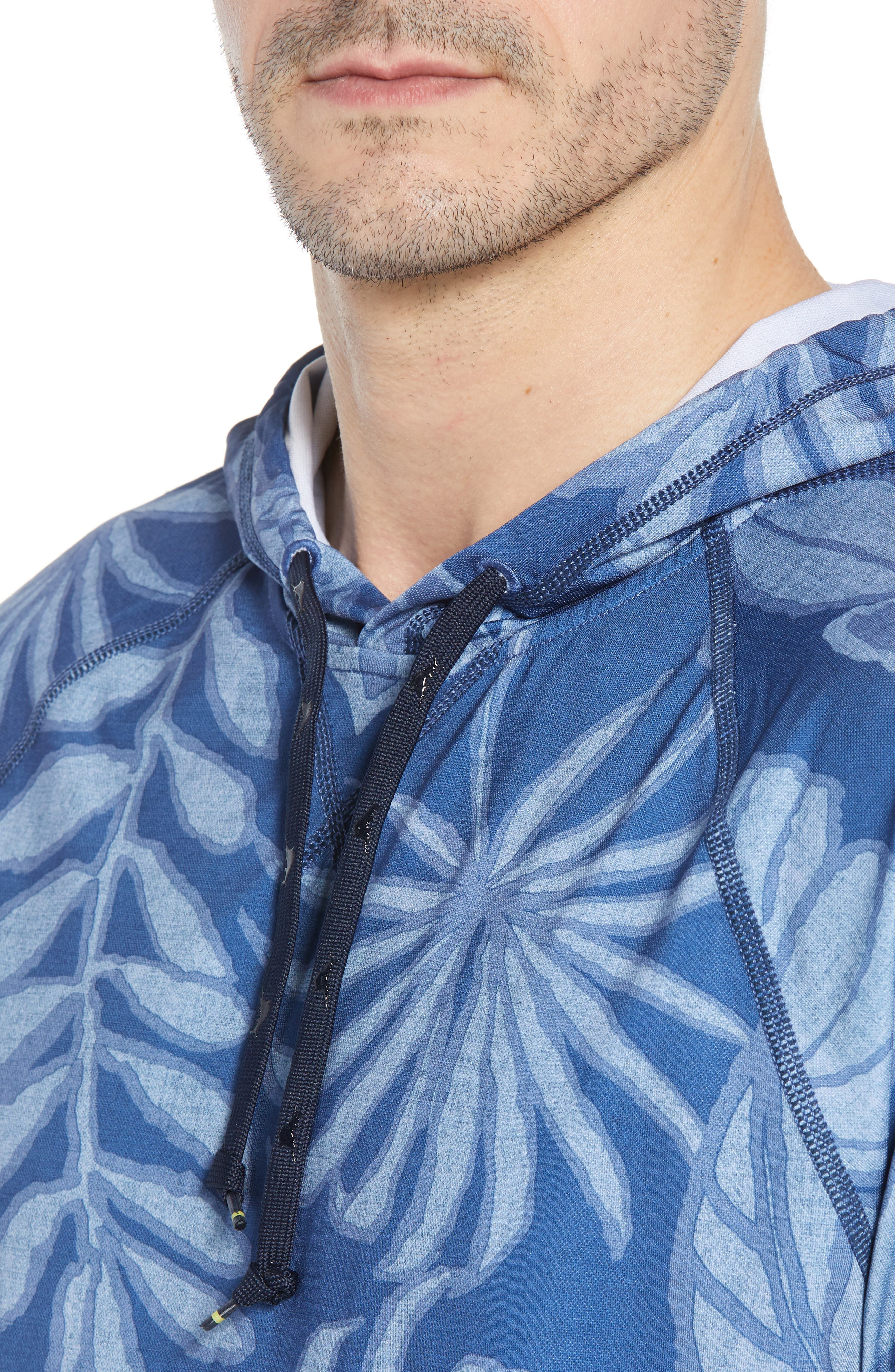 Playa Mambo Tech Hoodie,                             Alternate thumbnail 4, color,                             ATLANTIC