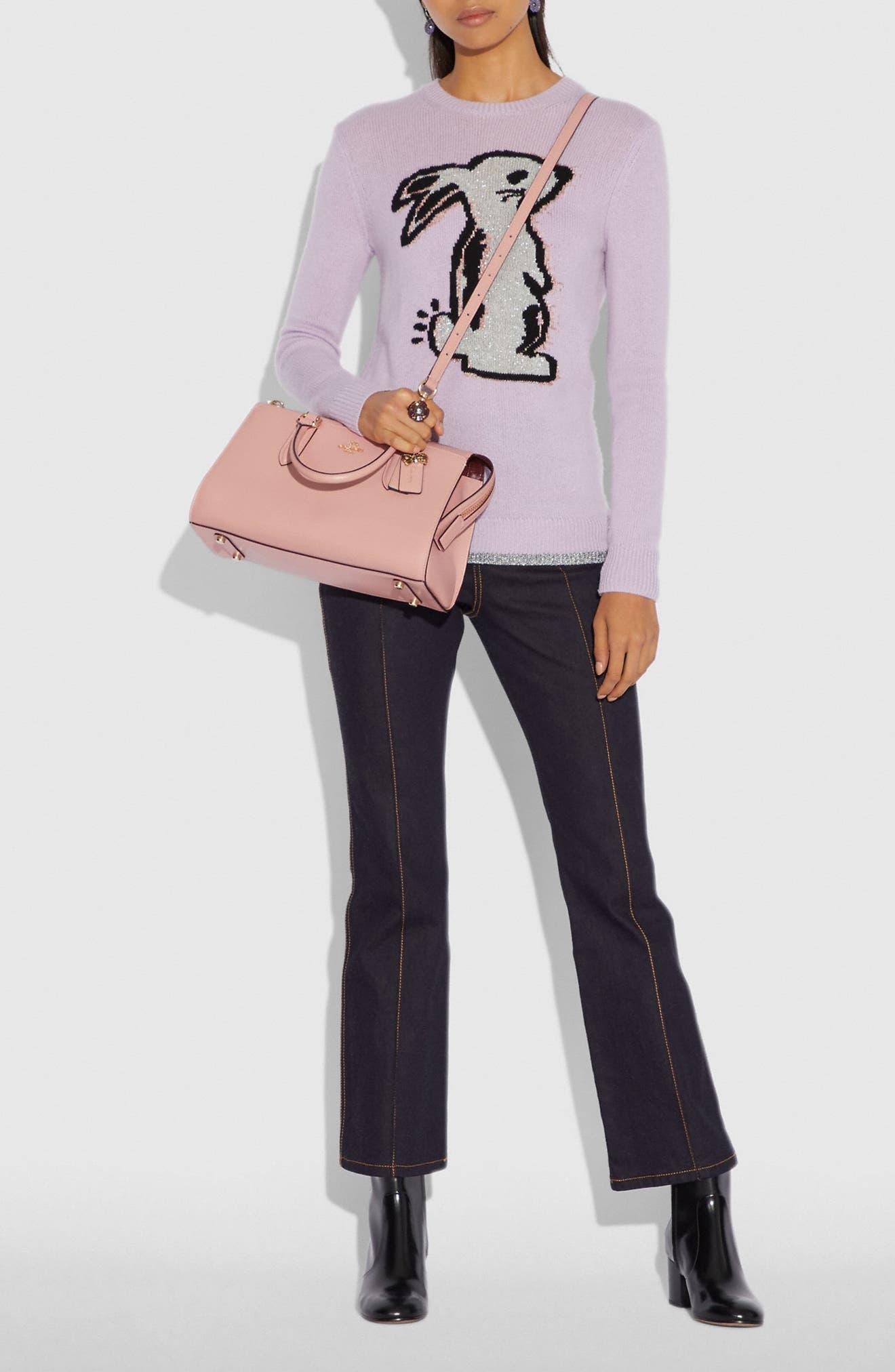 x Selena Gomez Selena Bond Leather Satchel,                             Alternate thumbnail 2, color,                             PEONY
