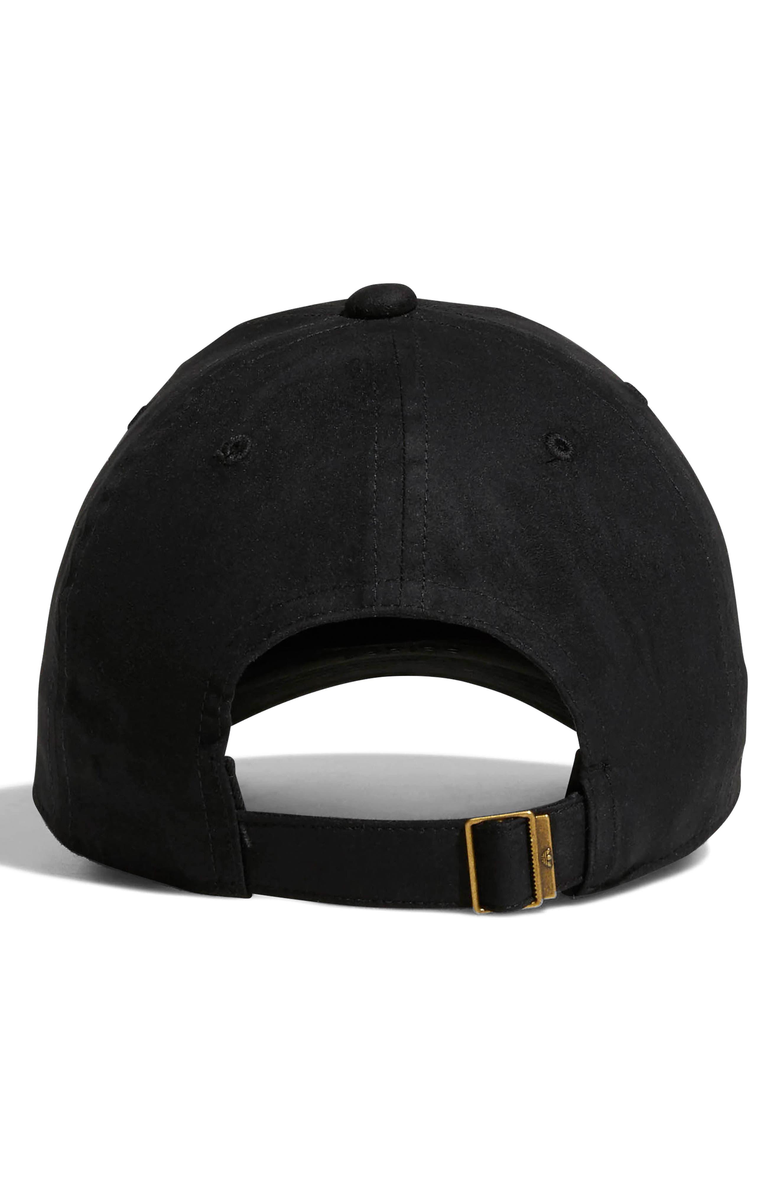 Originals Relaxed Debossed Cap,                             Alternate thumbnail 2, color,                             BLACK