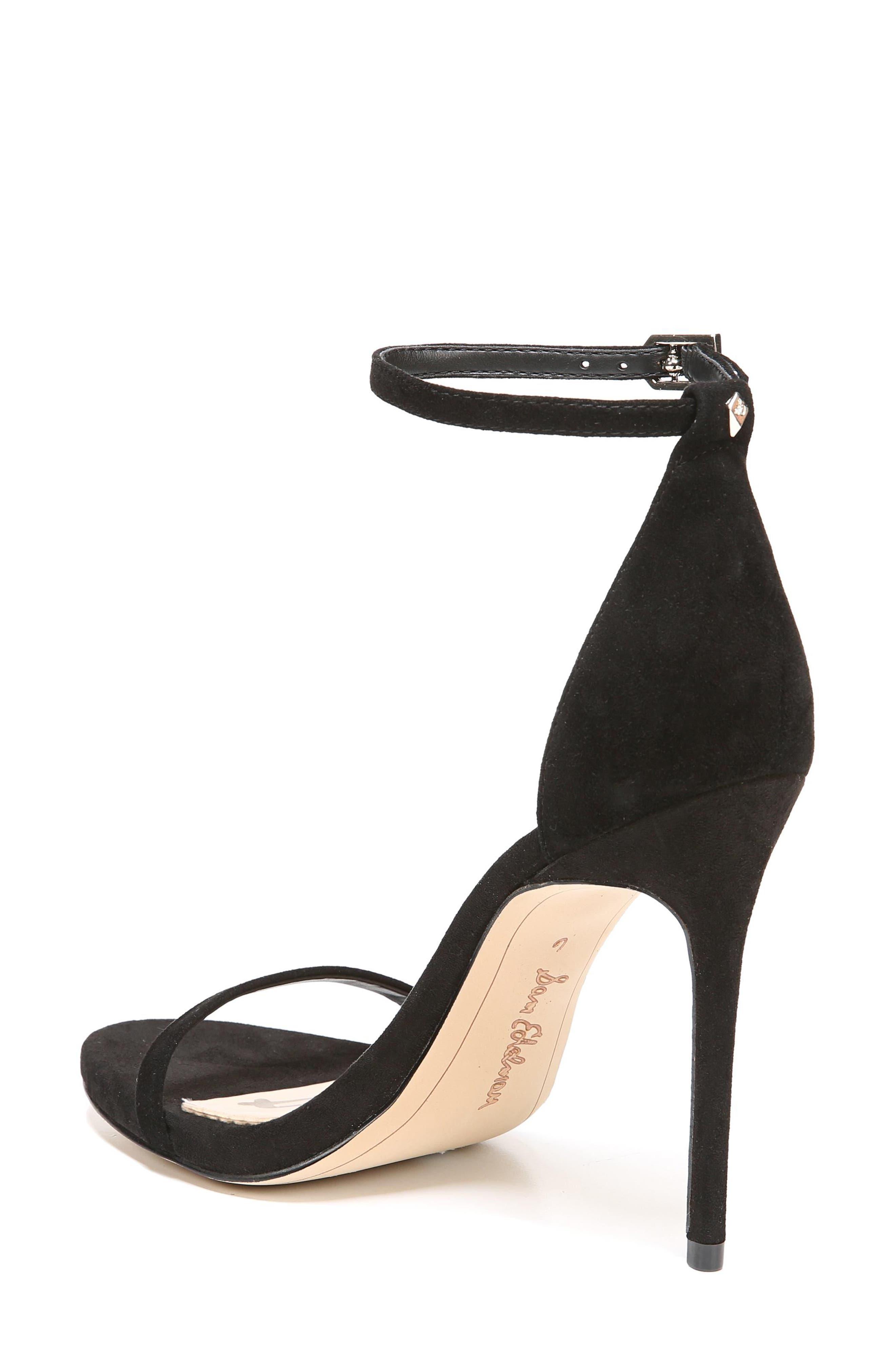 Ariella Ankle Strap Sandal,                             Alternate thumbnail 2, color,                             BLACK SUEDE