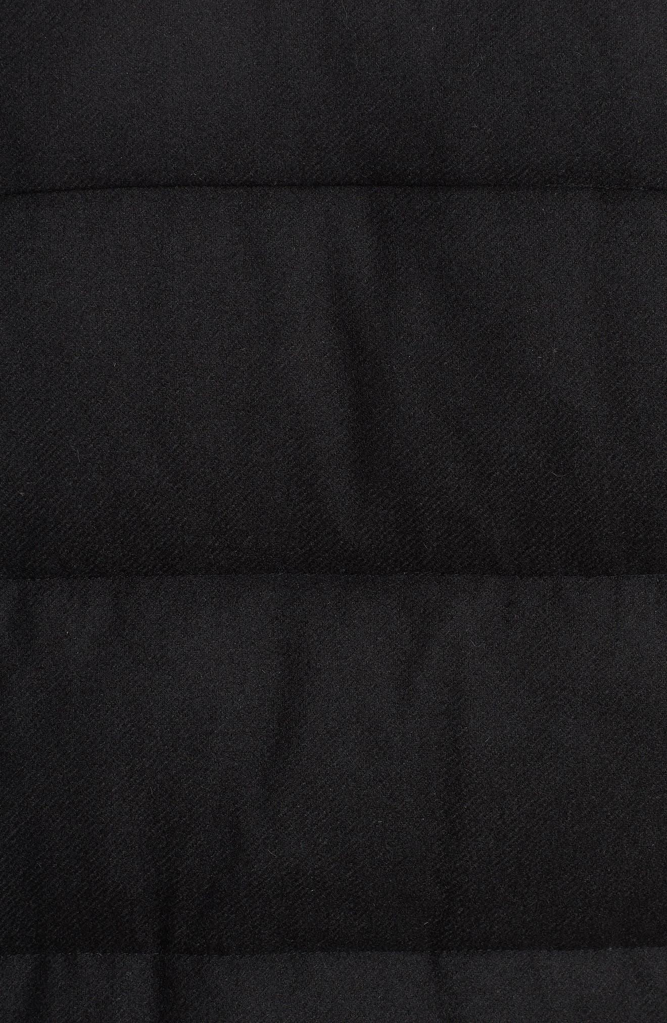 Wool Blend Puffer Jacket,                             Alternate thumbnail 8, color,                             BLACK