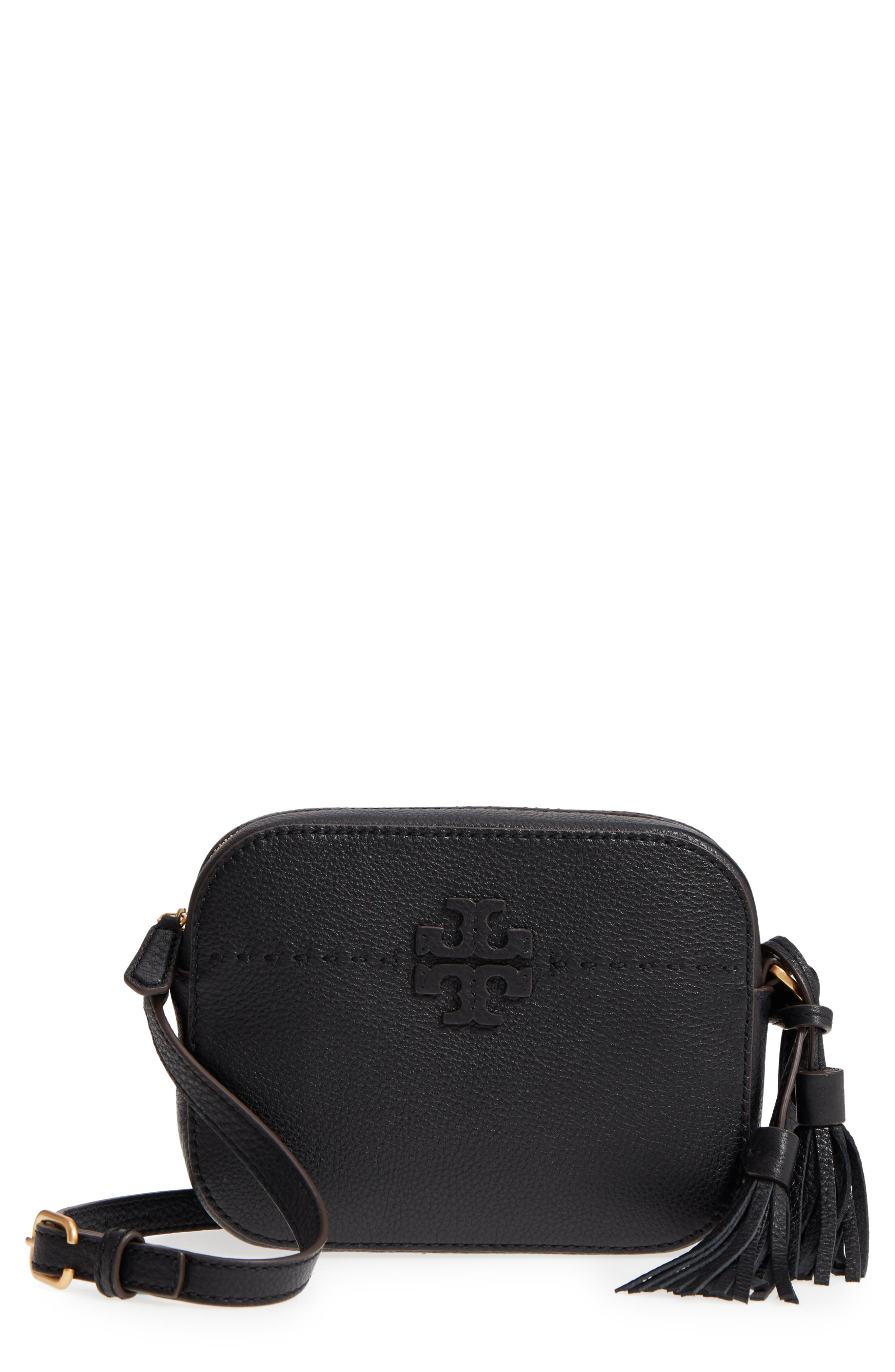 McGraw Leather Camera Bag,                             Main thumbnail 1, color,                             001
