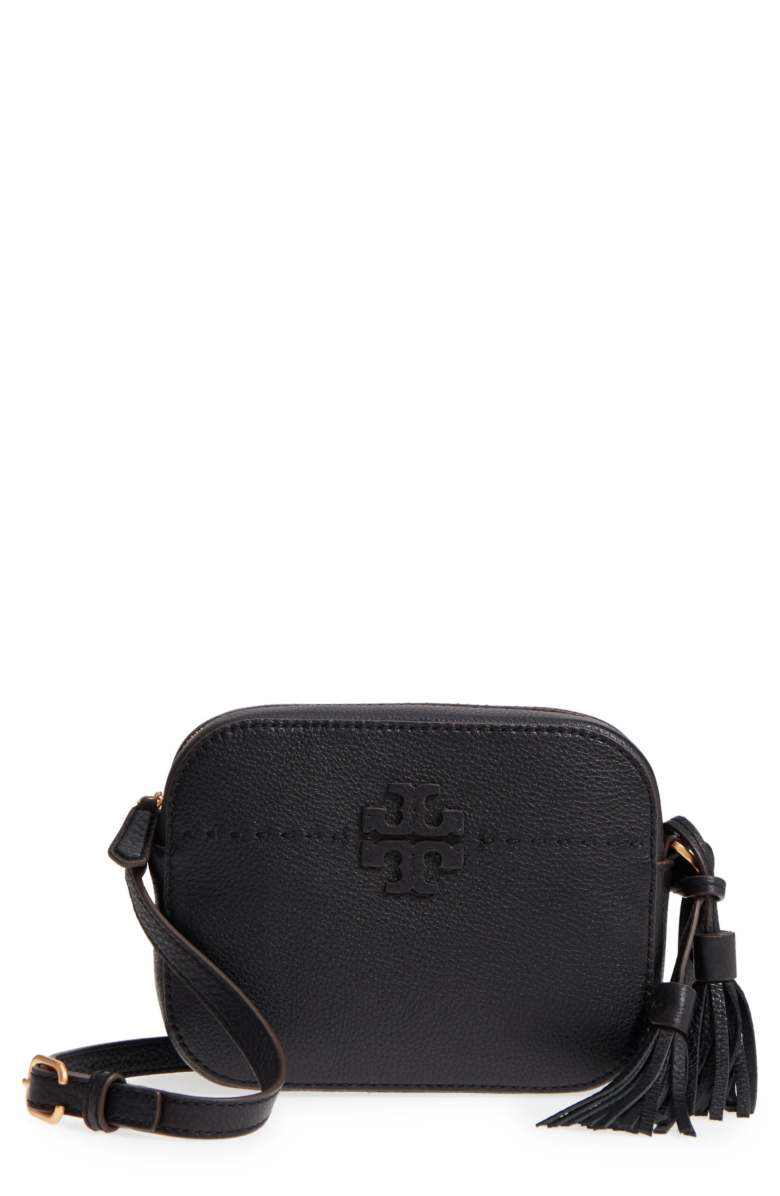 McGraw Leather Camera Bag,                         Main,                         color, 001