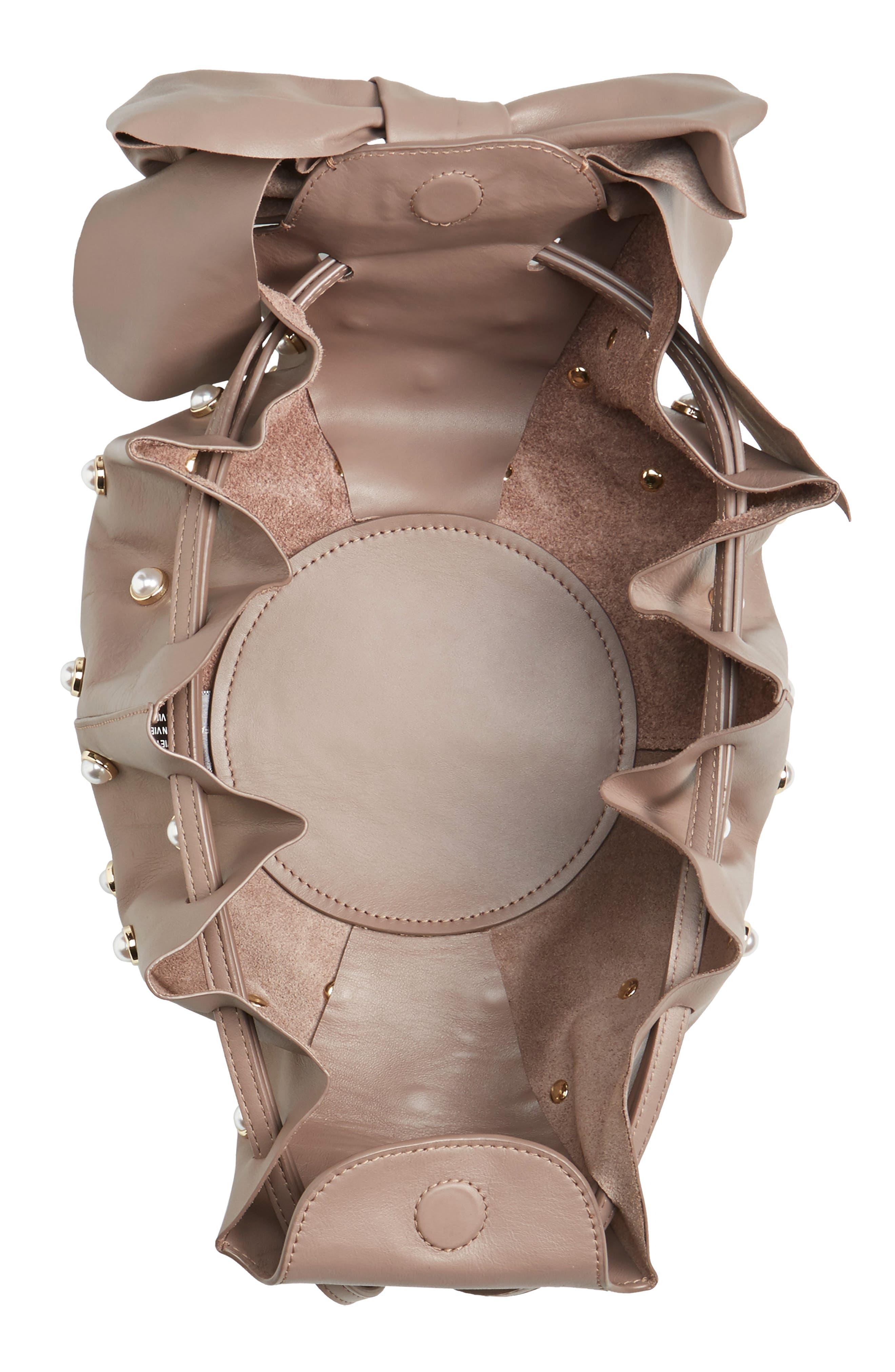 Soirée Imitation Pearl Lady Leather Crossbody Bag,                             Alternate thumbnail 4, color,                             530