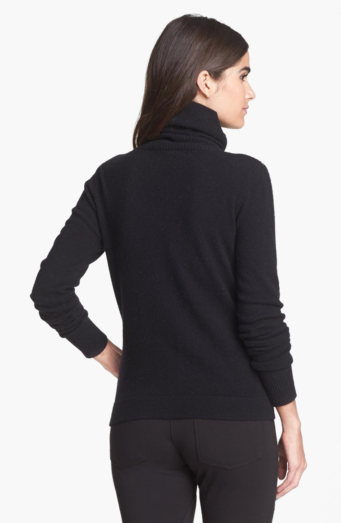 'Slogan' Wool & Cashmere Sweater,                             Alternate thumbnail 3, color,                             001