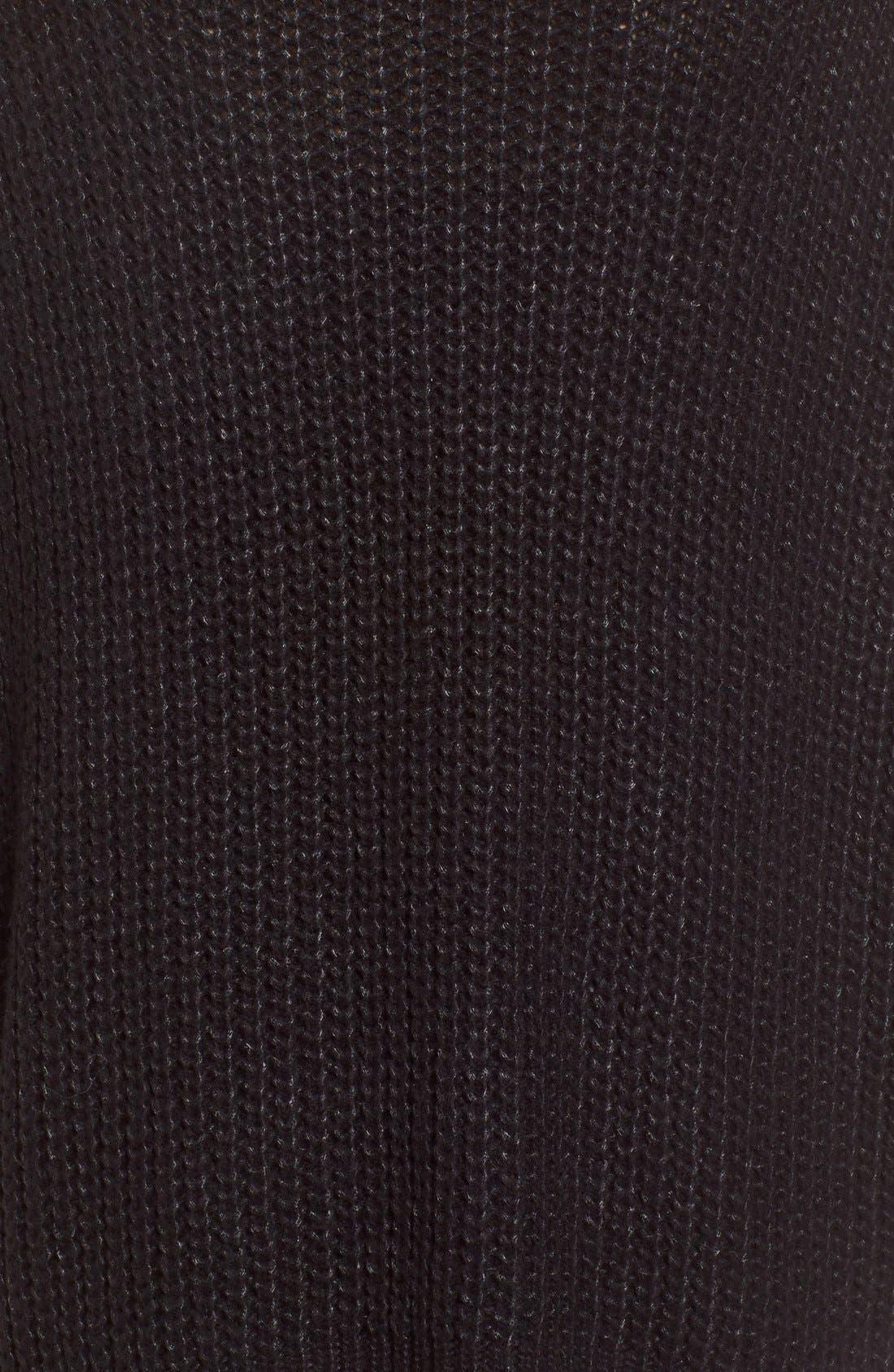 Oversize Turtleneck Sweater,                             Alternate thumbnail 3, color,                             001