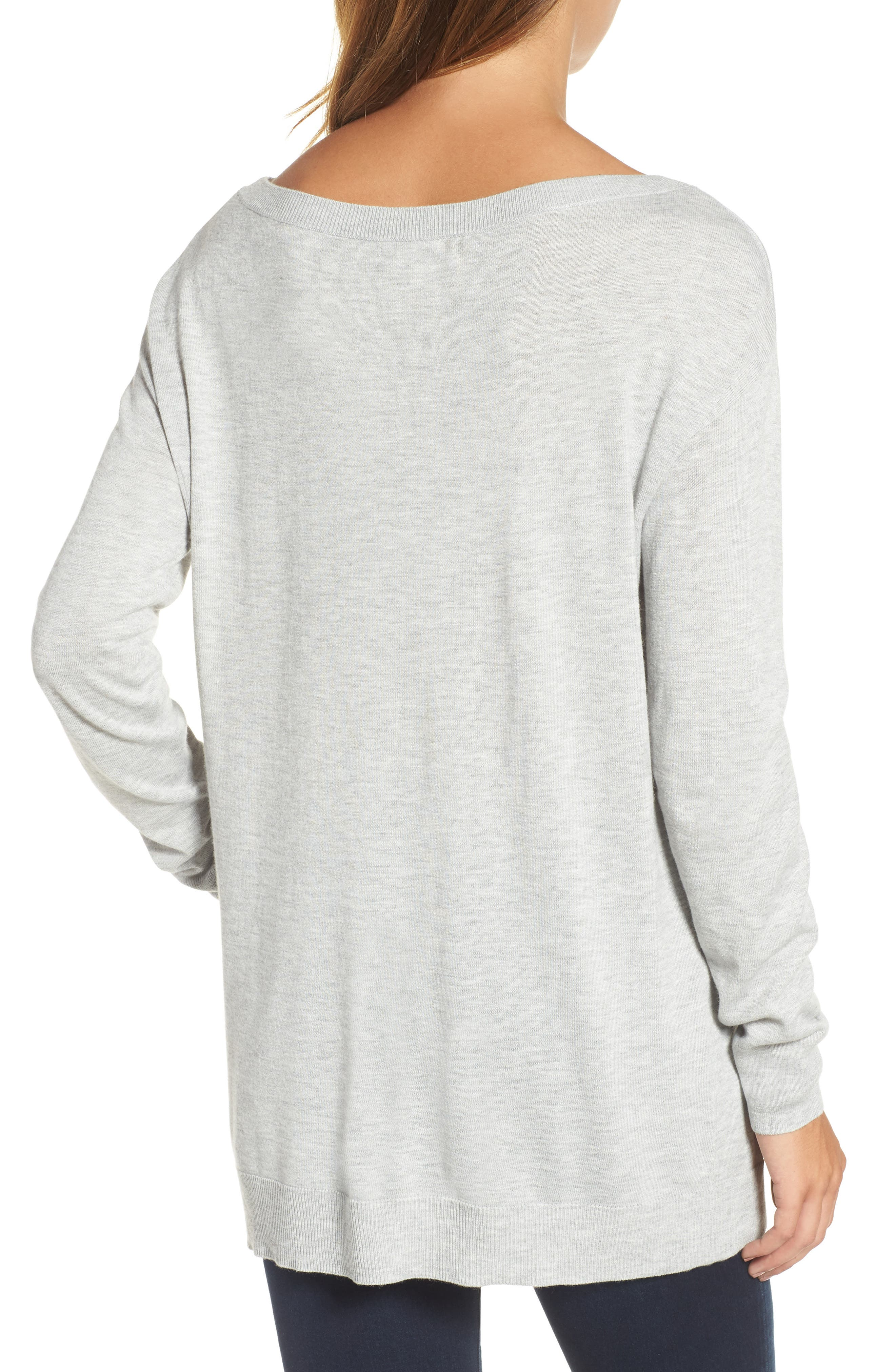 Boatneck Tunic Sweater,                             Alternate thumbnail 12, color,