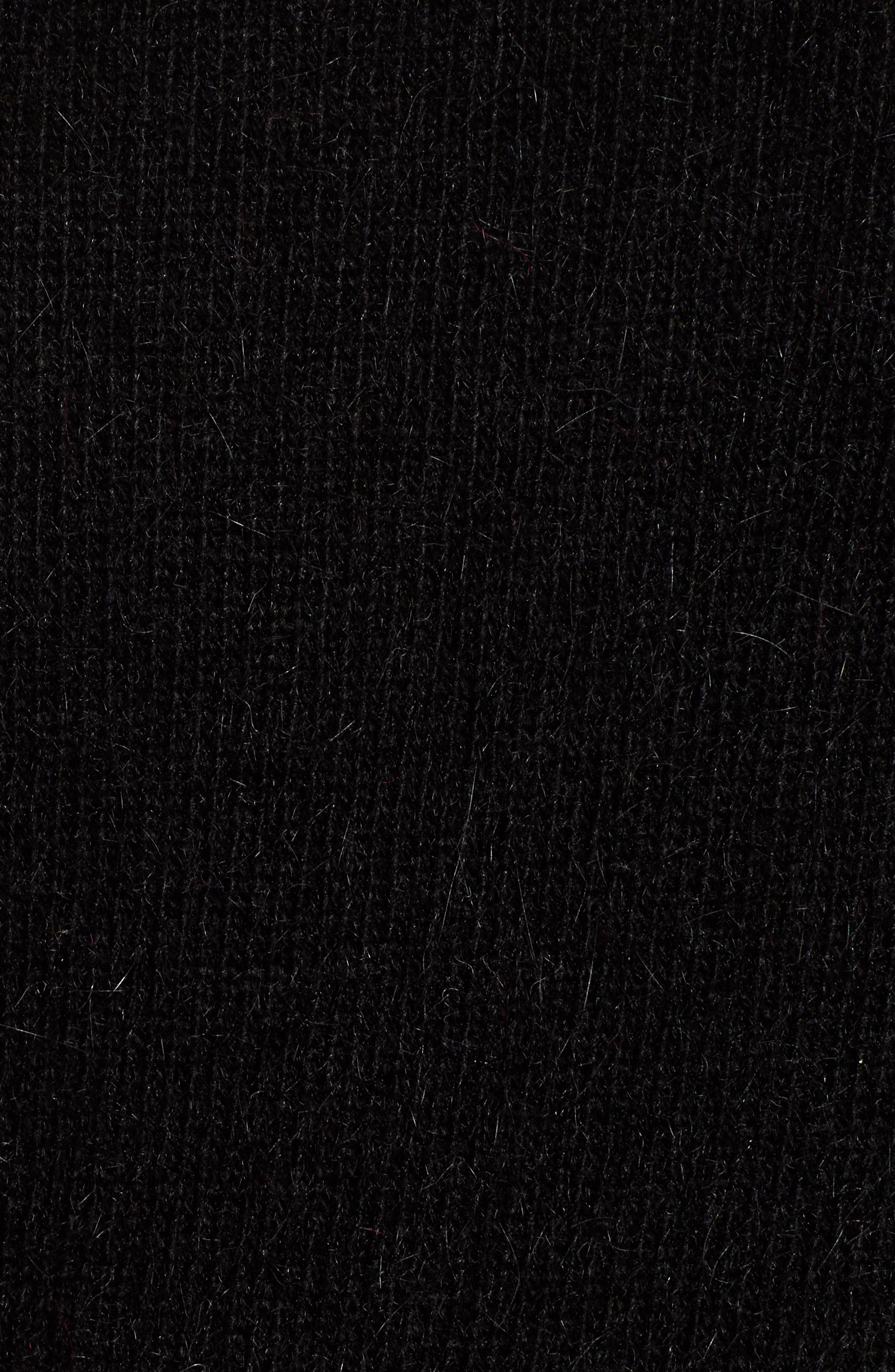 Blouson Sleeve Sweater,                             Alternate thumbnail 5, color,                             BLACK