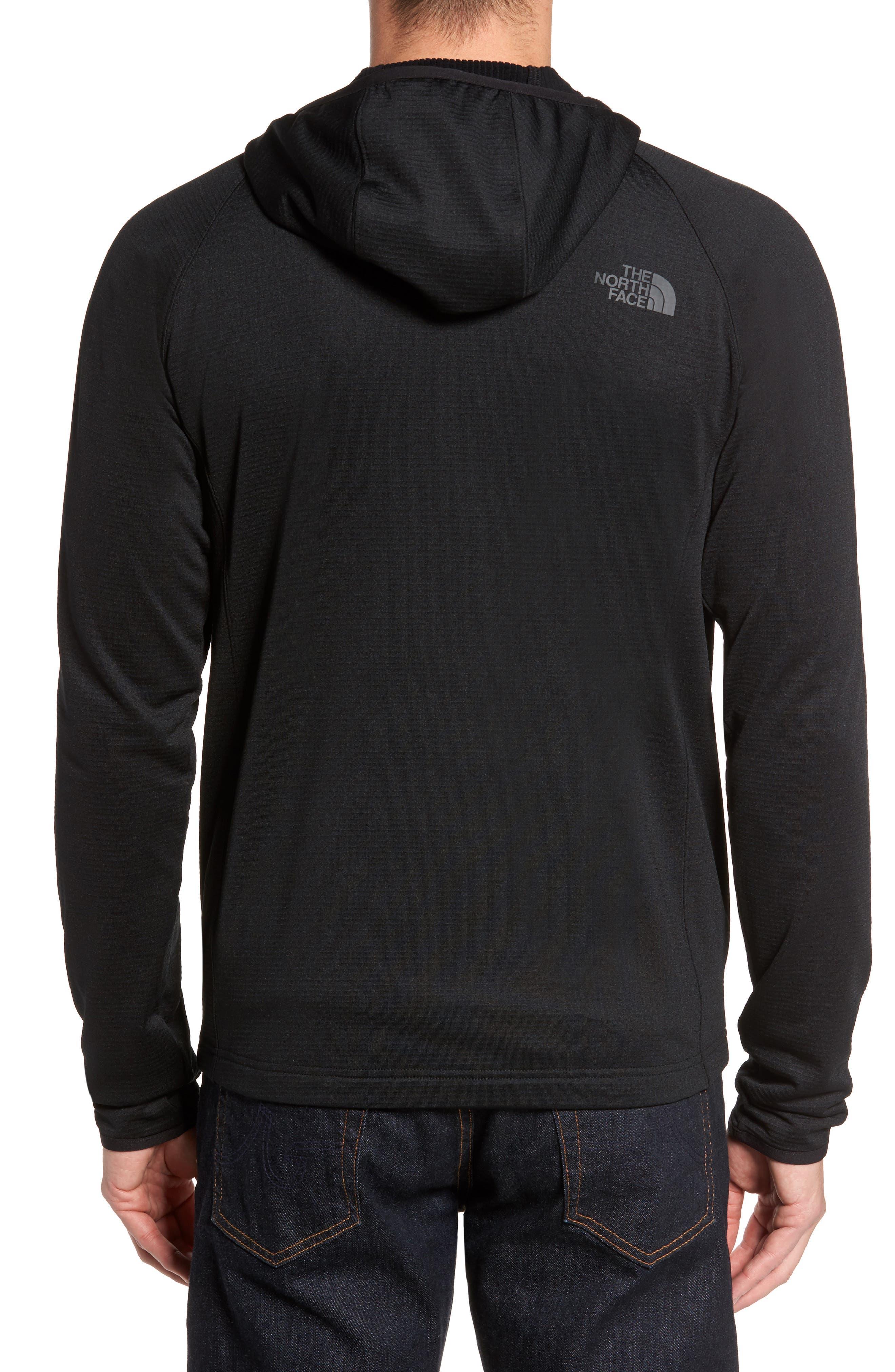 Borod Zip Fleece Jacket,                             Alternate thumbnail 2, color,                             BLACK/ BLACK