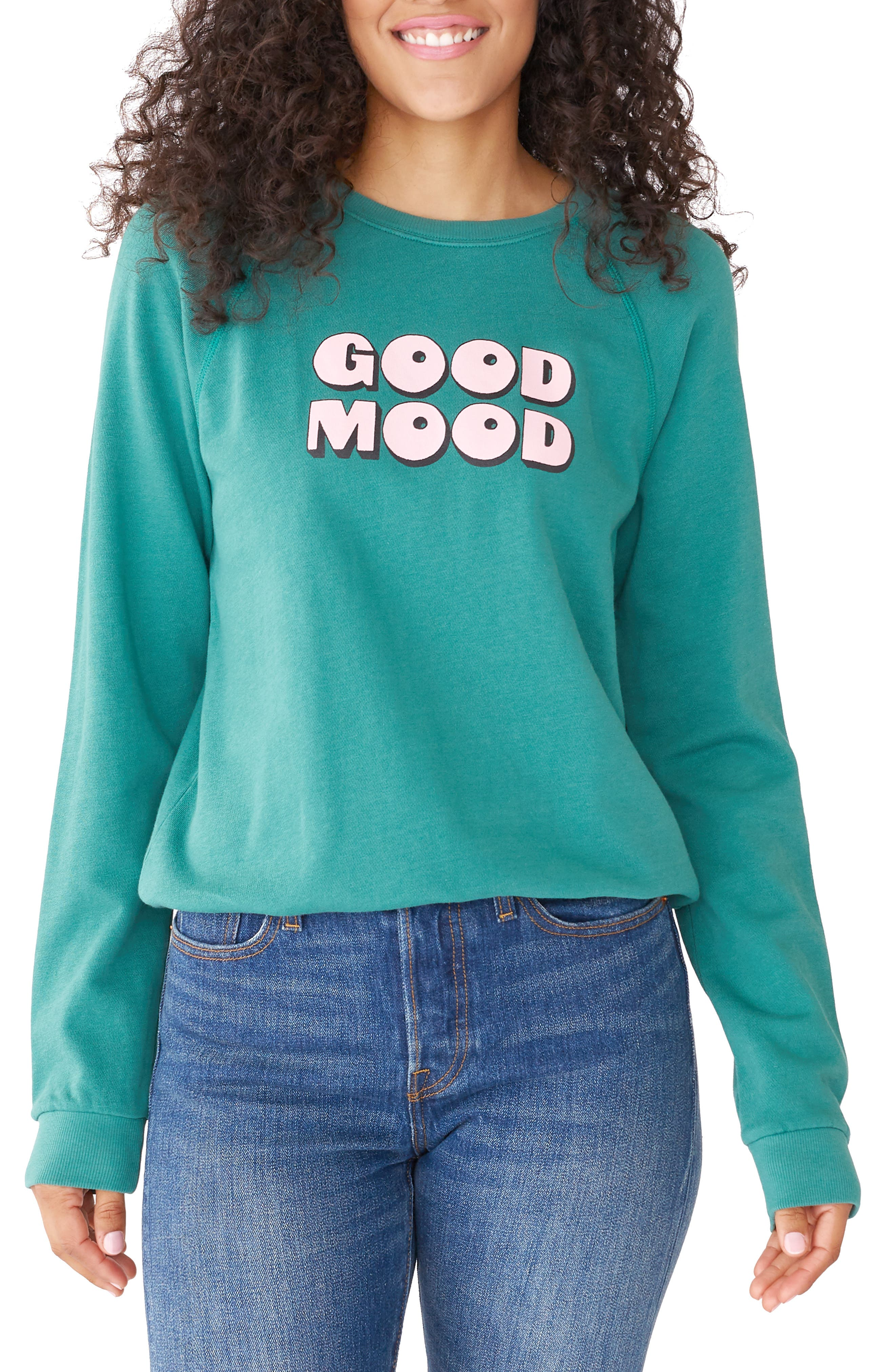 BAN.DO Ban. Do Good Mood Sweatshirt in Green
