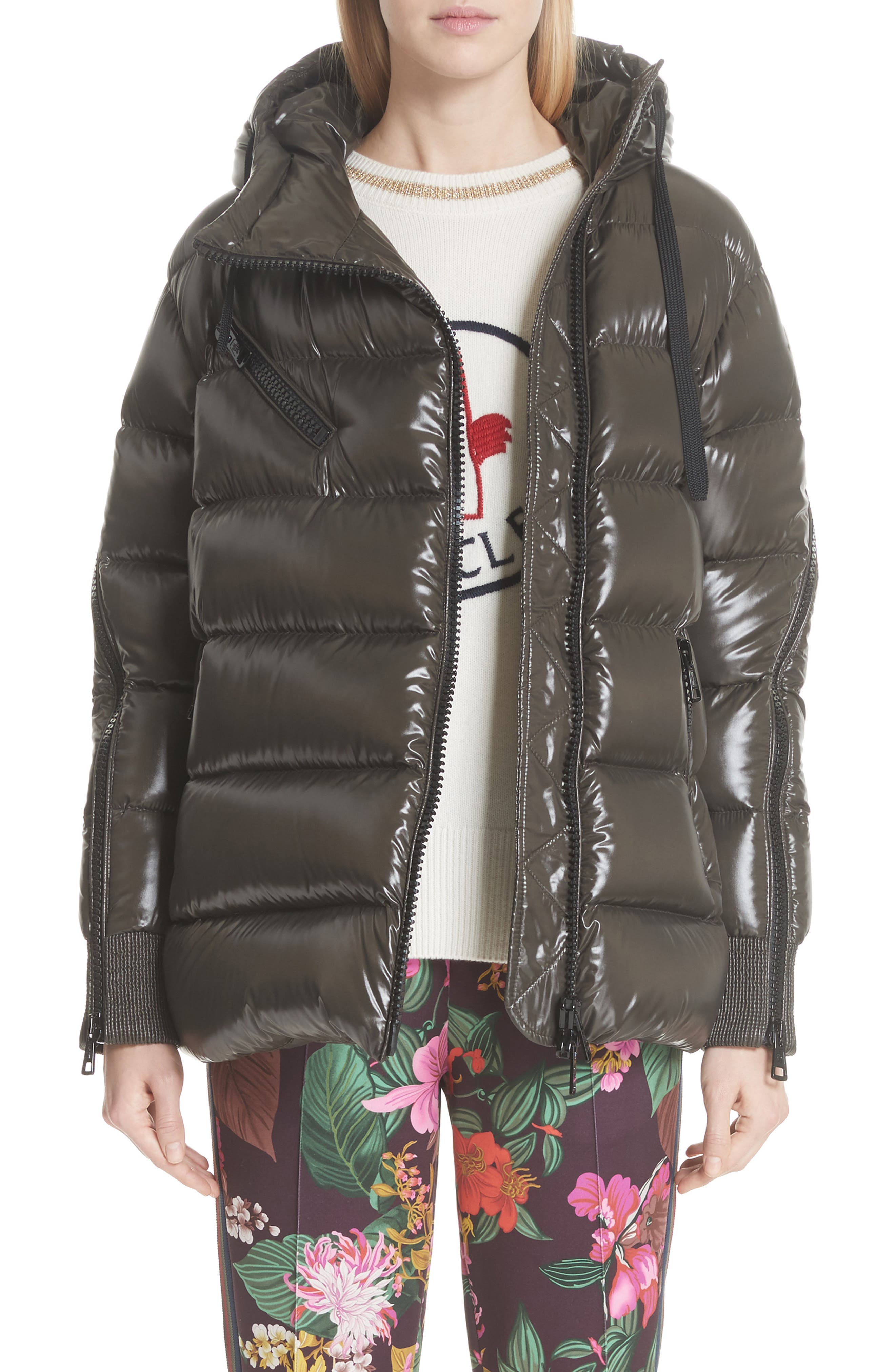 Moncler Liriope Hooded Down Coat