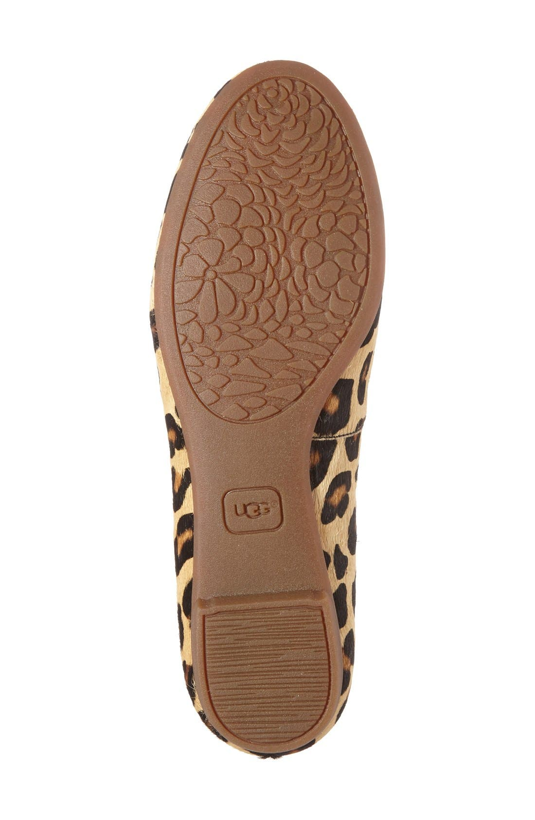 'Blyss' Leopard Spot Calf Hair Flat,                             Alternate thumbnail 3, color,                             200