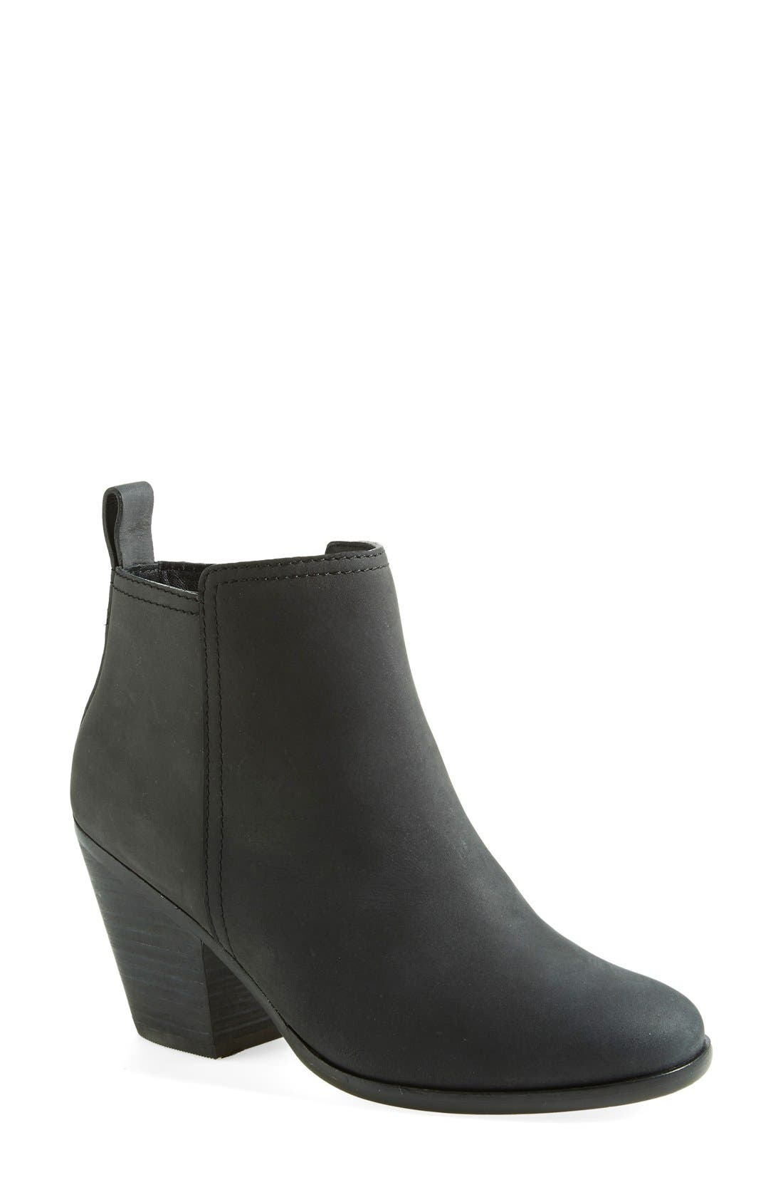COLE HAAN,                             'Chesney' Round Toe Bootie,                             Main thumbnail 1, color,                             001