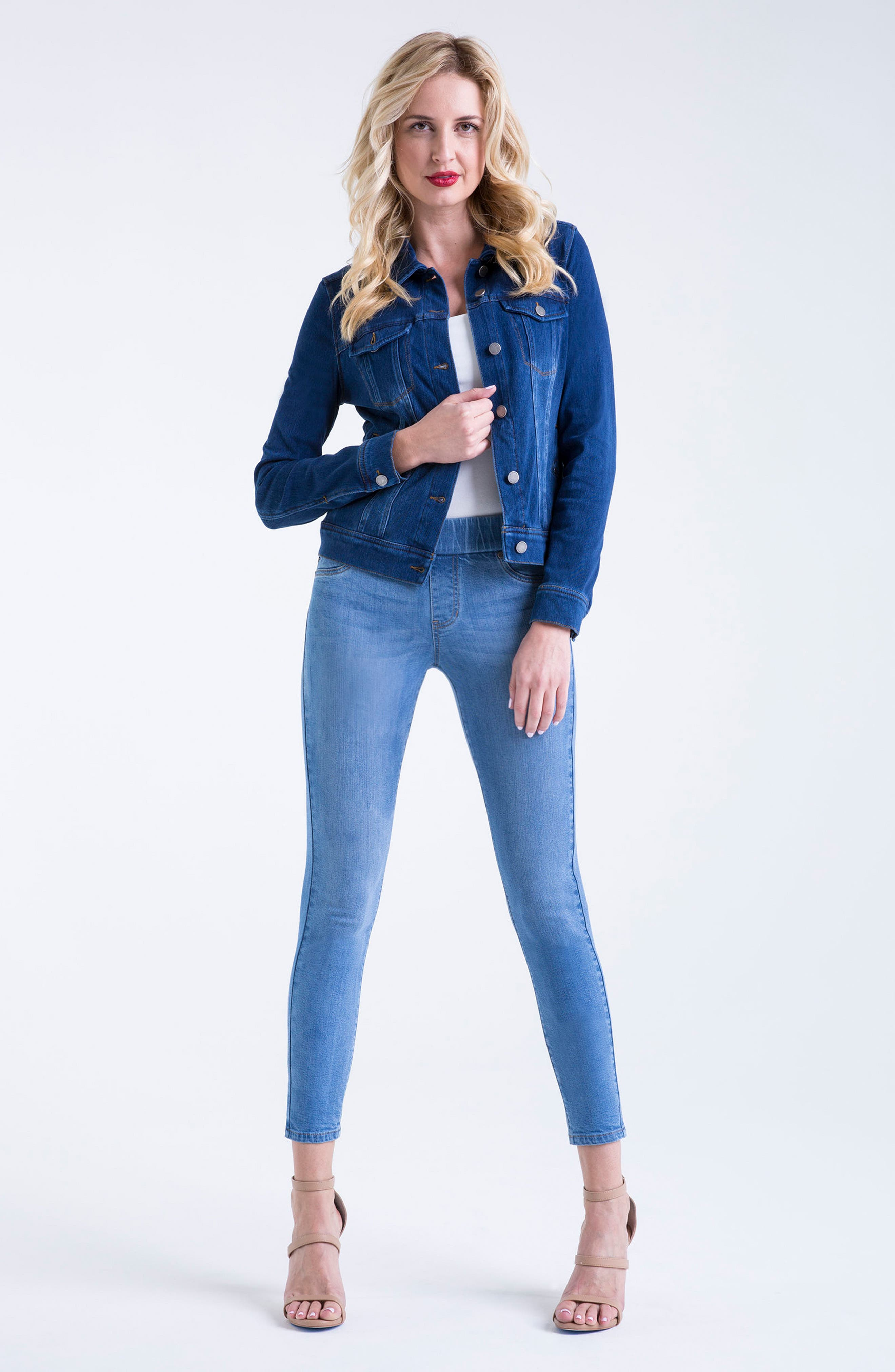Knit Denim Jacket,                             Alternate thumbnail 5, color,                             ADMIRAL BLUE
