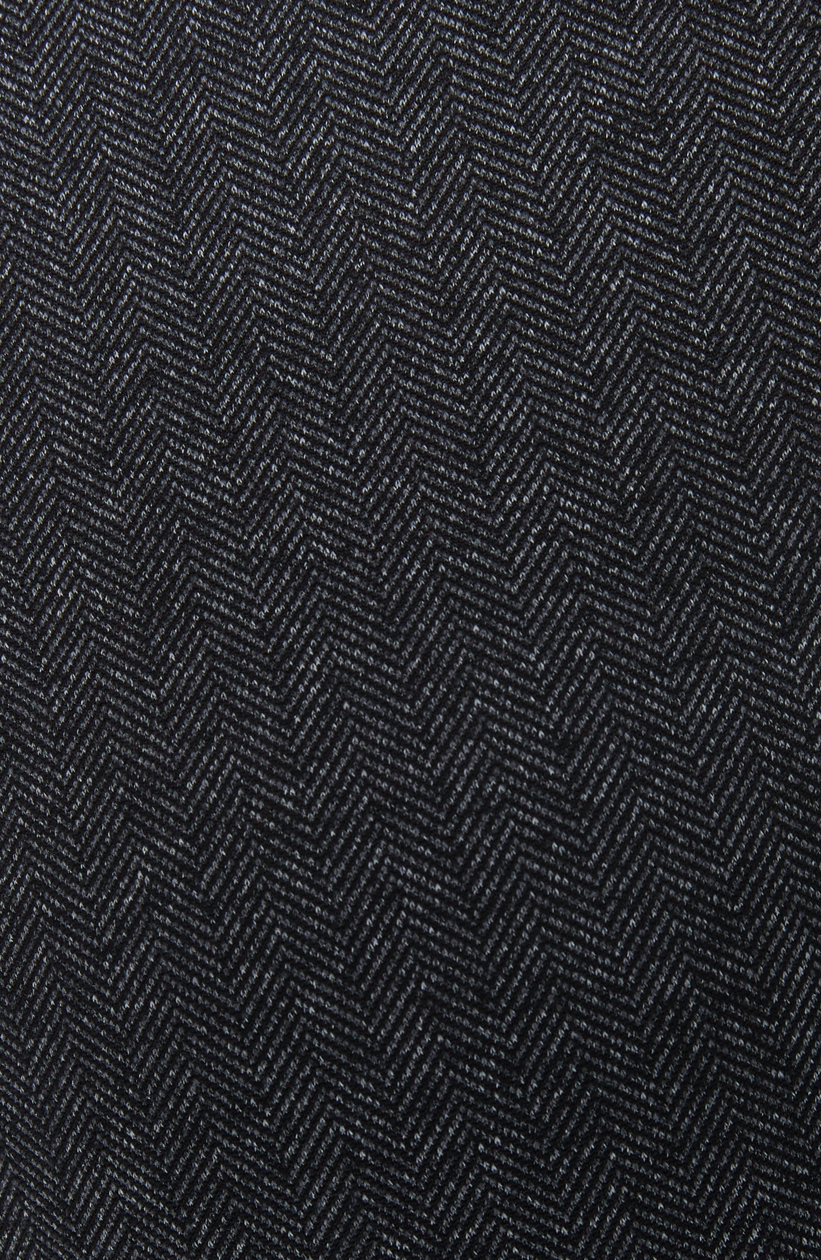 Contrast Panel Tweed Leggings,                             Alternate thumbnail 6, color,                             CHARCOAL