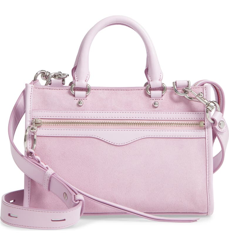 4817be1dd7d Rebecca Minkoff Micro Bedford Suede Satchel - Purple In Light Orchid ...
