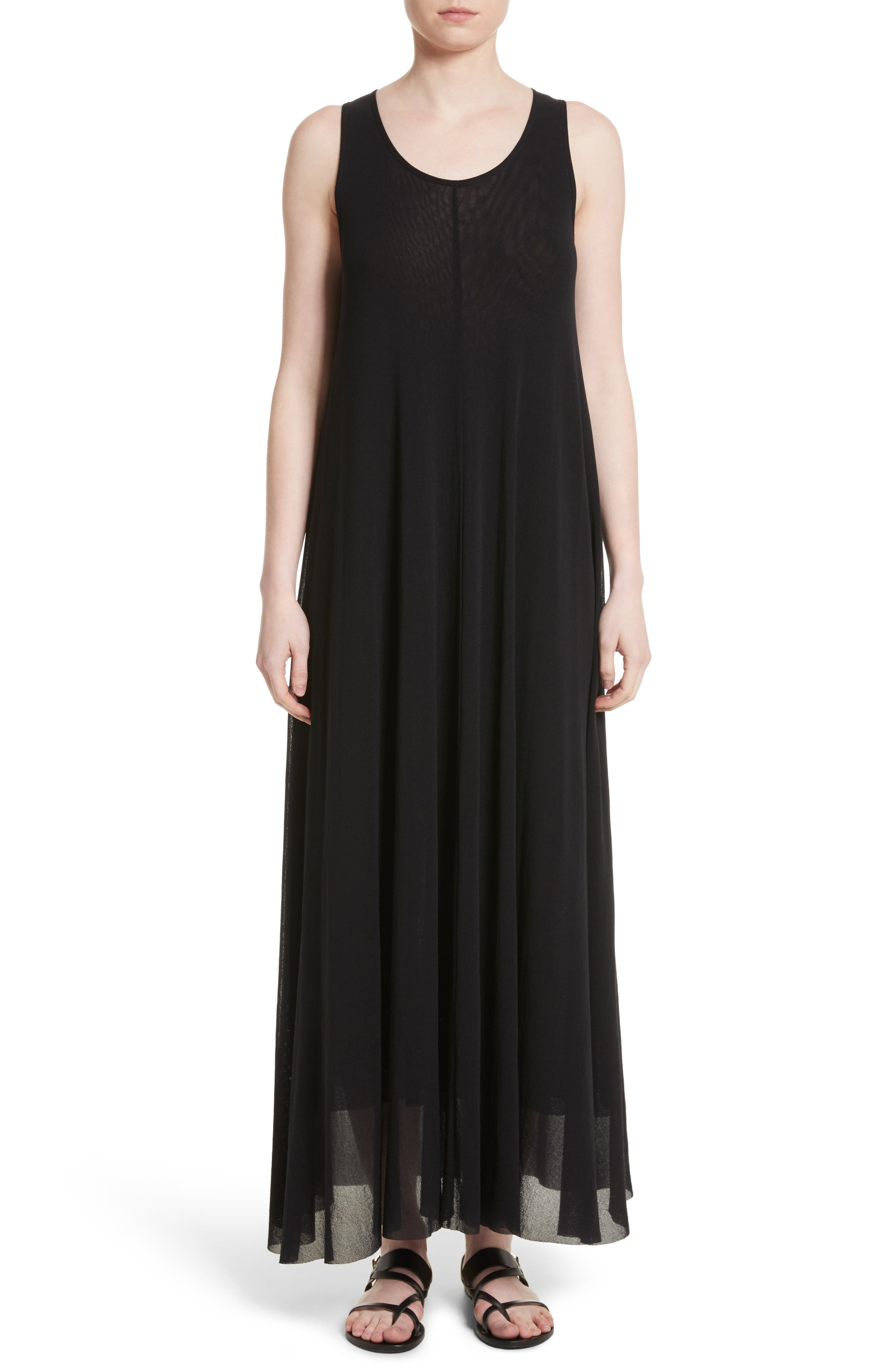 Belted Tulle Maxi Dress,                             Main thumbnail 1, color,