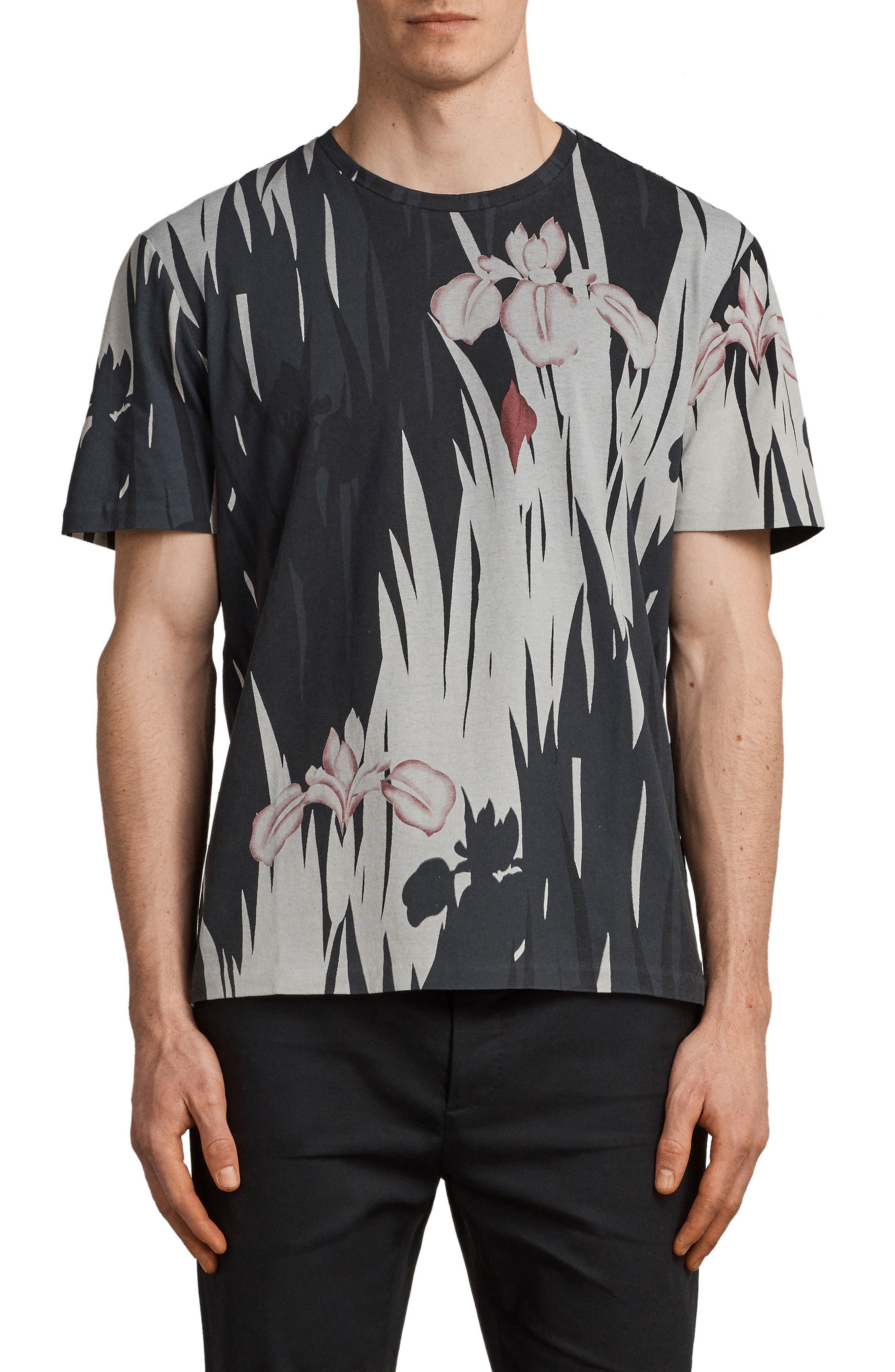 Nahiku Oversized Crewneck T-shirt,                             Main thumbnail 1, color,                             004