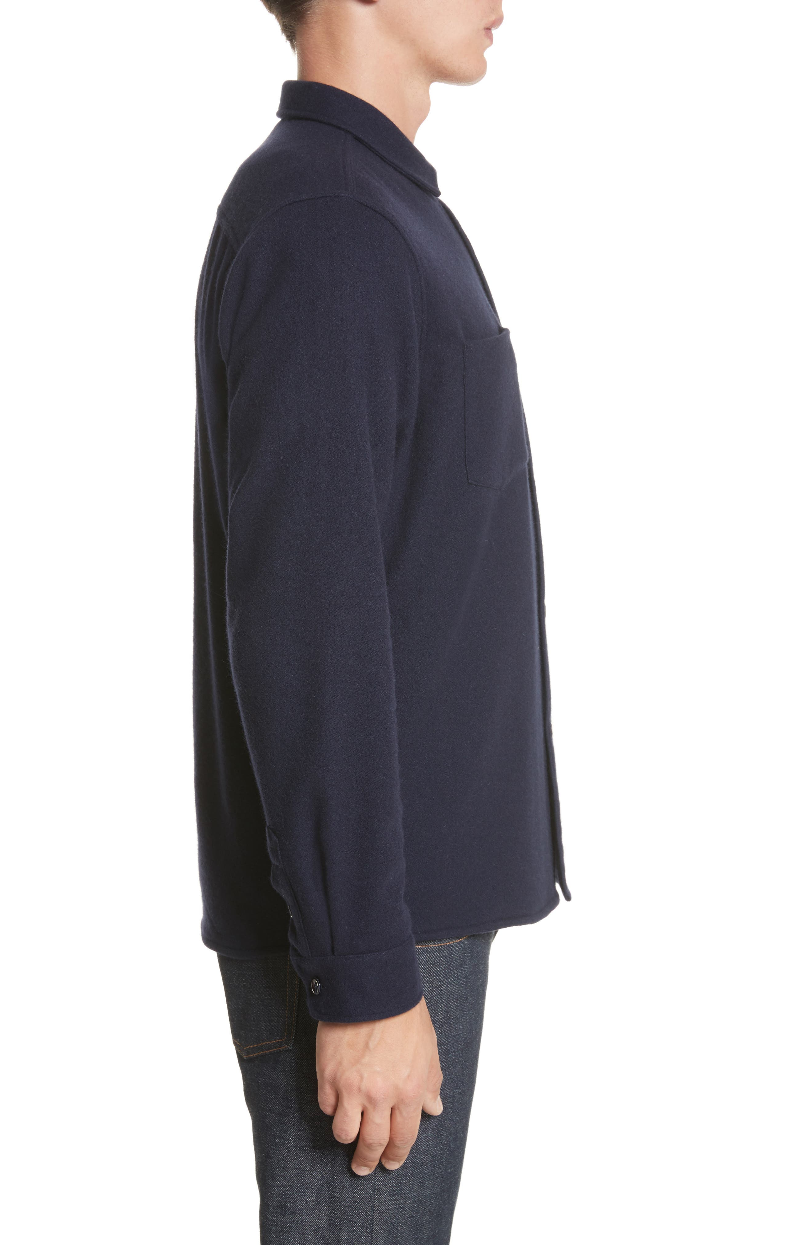 Fritz Wool Blend Shirt Jacket,                             Alternate thumbnail 3, color,                             410