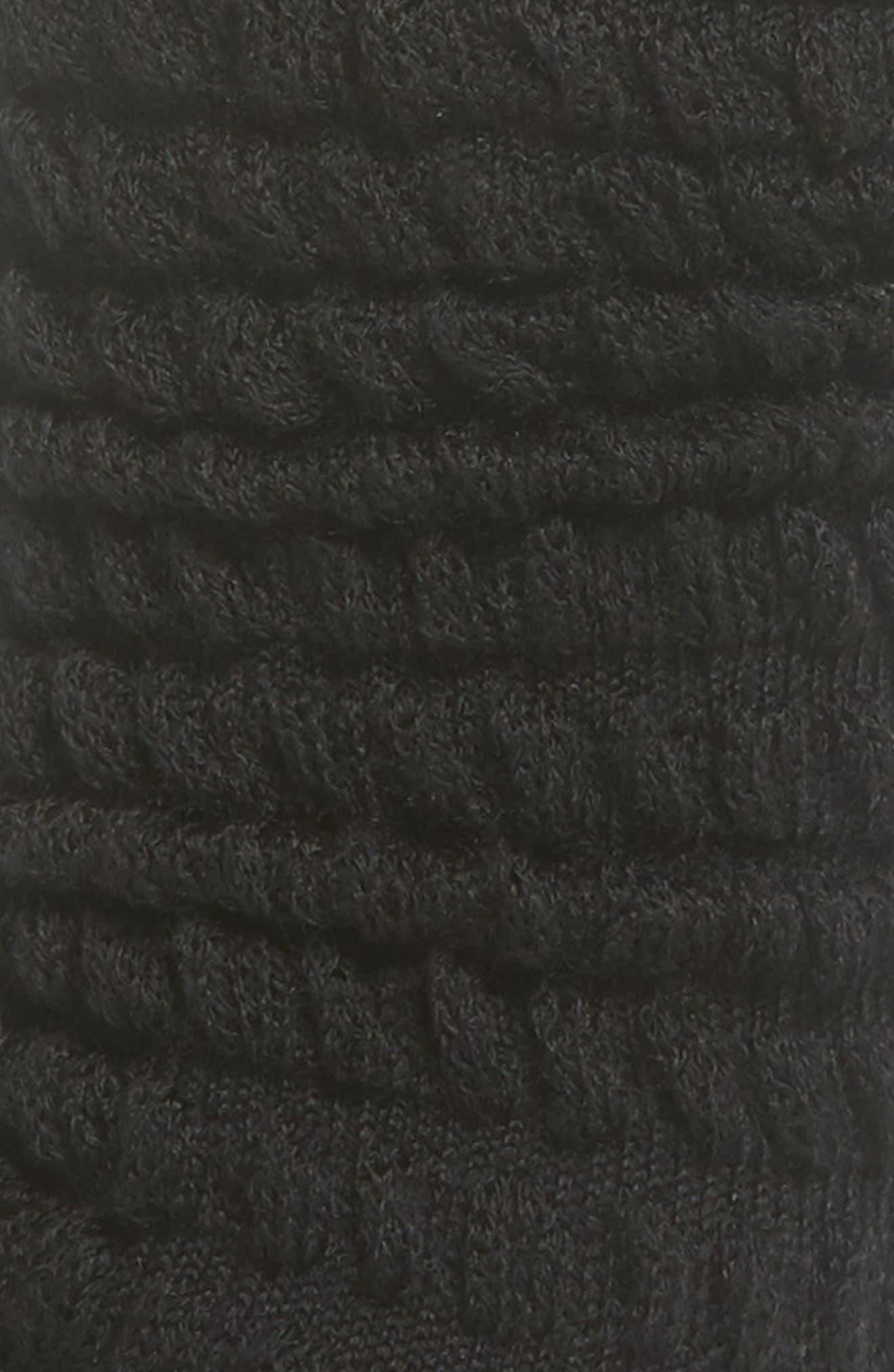 Slouch Crew Socks,                             Alternate thumbnail 2, color,                             BLACK