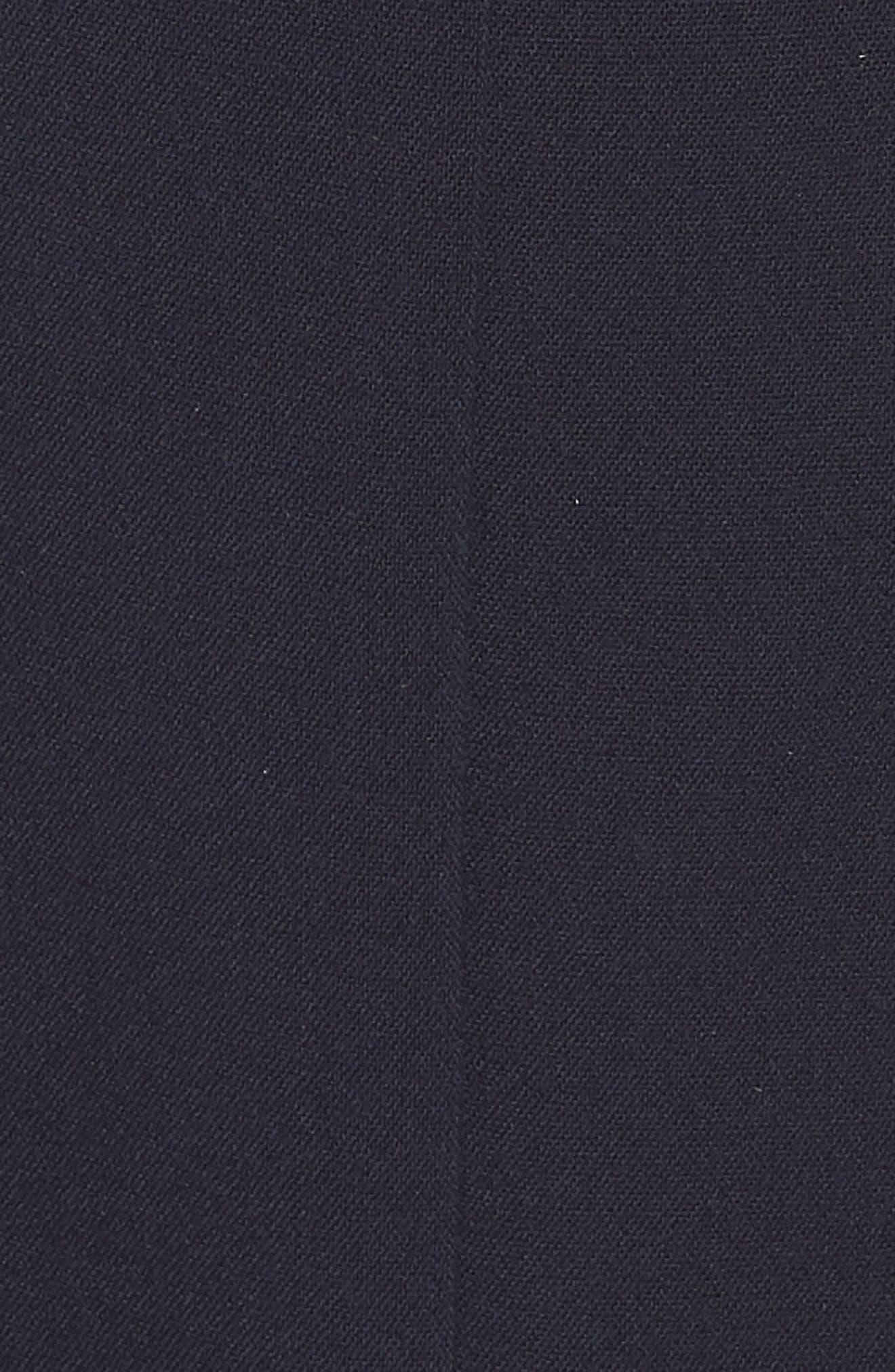 Cap Sleeve Fit & Flare Dress,                             Alternate thumbnail 6, color,                             NAVY