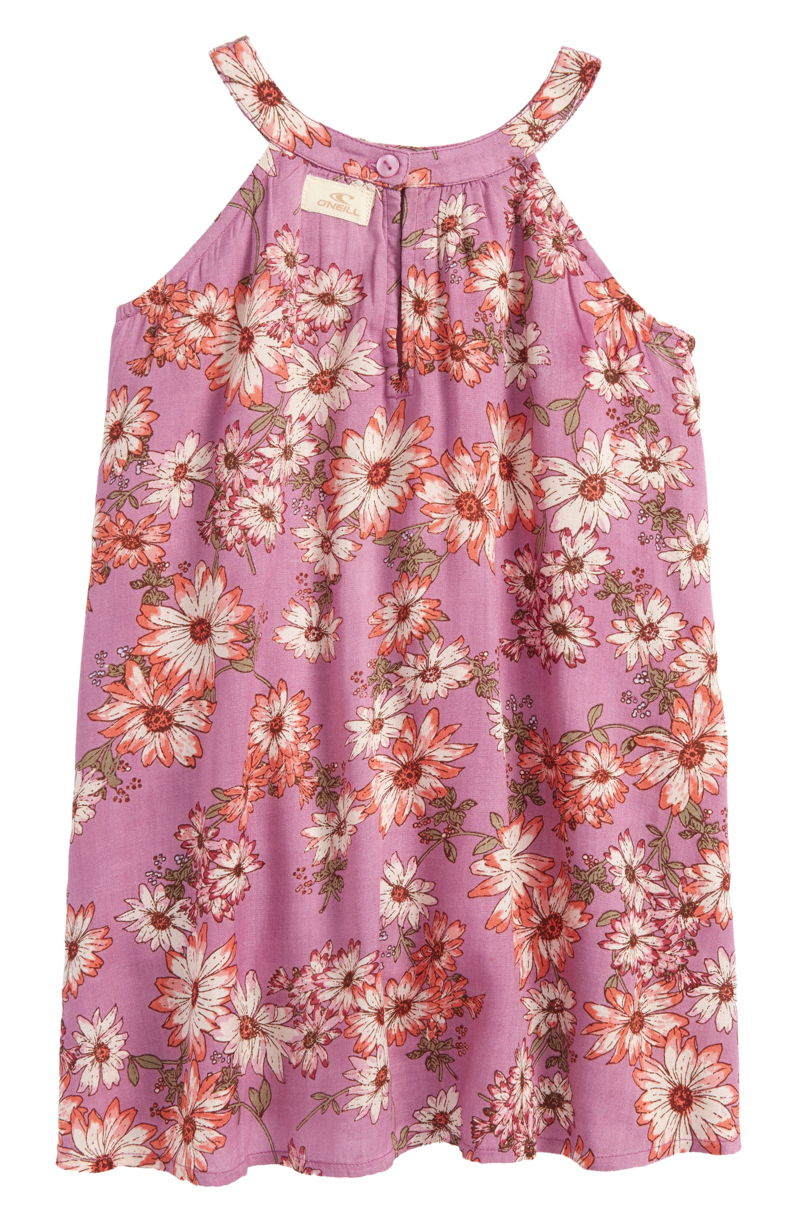 Sallie Floral Dress,                             Alternate thumbnail 3, color,