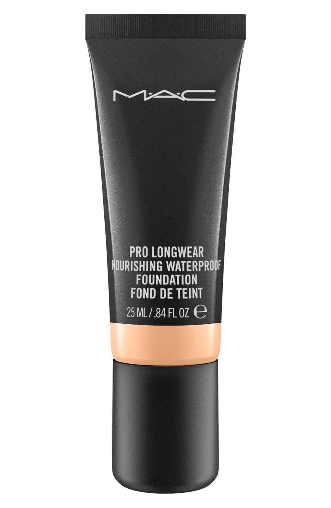 MAC Pro Longwear Nourishing Waterproof Foundation,                             Main thumbnail 1, color,                             NC25
