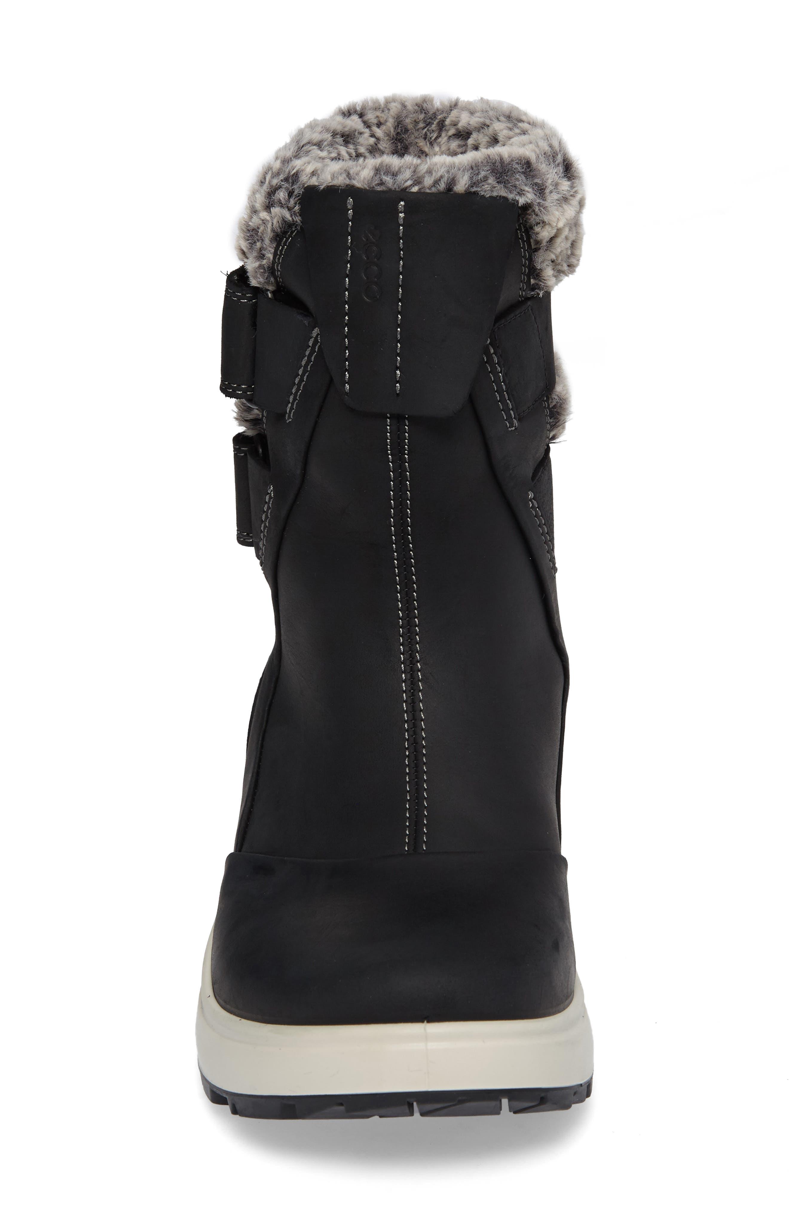 Noyce Water-Resistant Fleece Boot,                             Alternate thumbnail 4, color,                             001