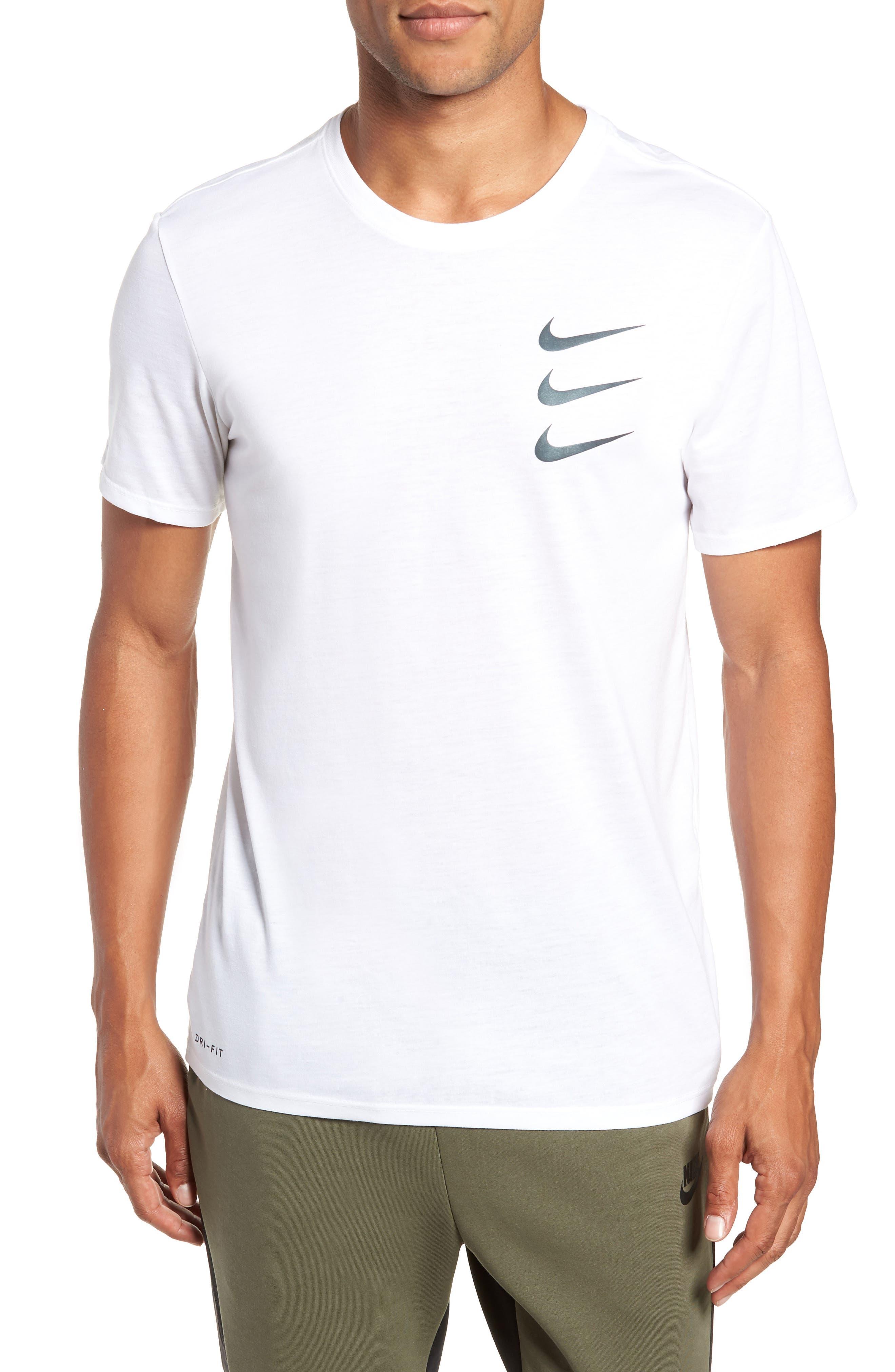 Dry Running Division T-Shirt,                         Main,                         color, WHITE/ GUNSMOKE