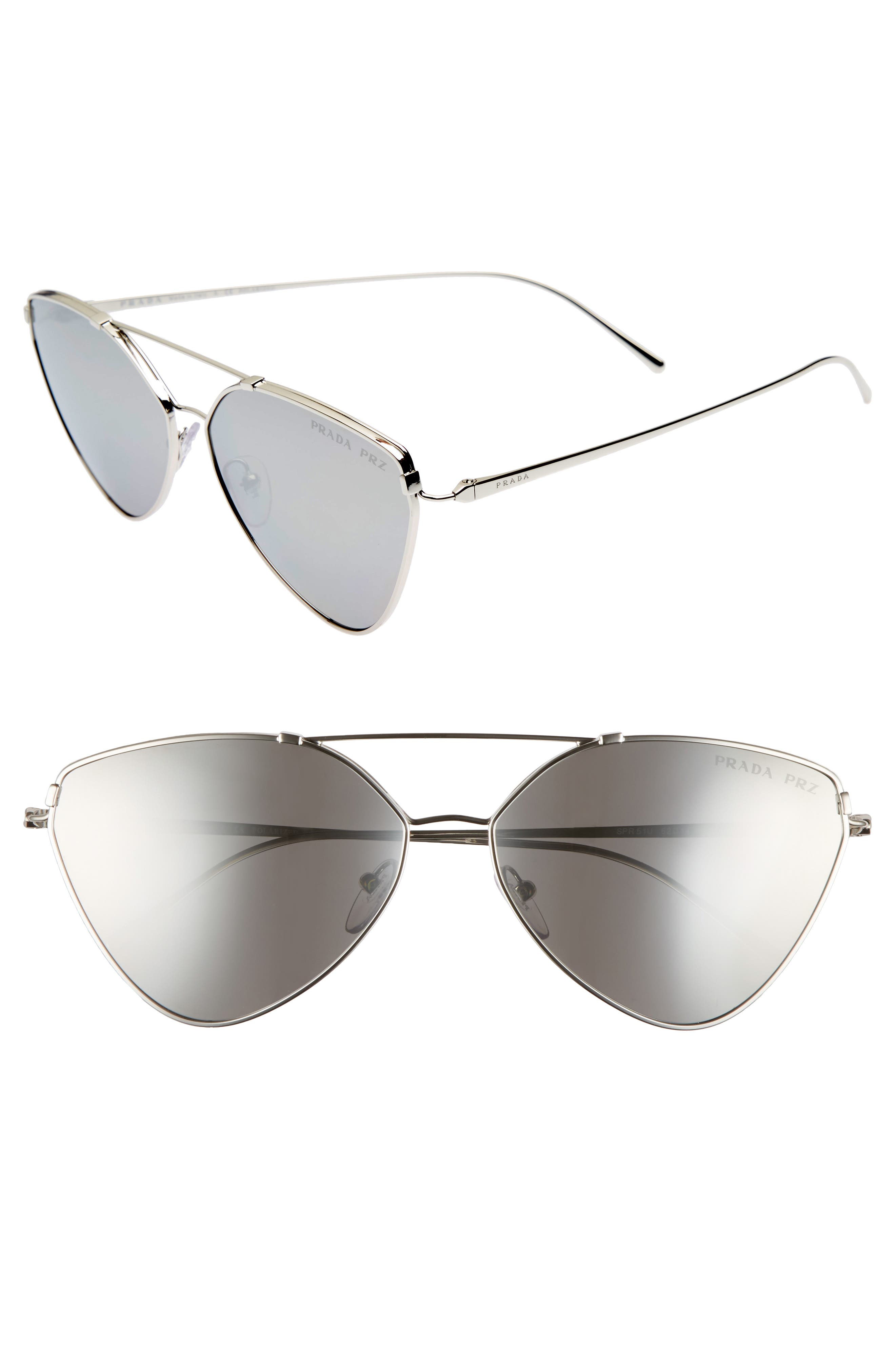 62mm Polarized Oversize Aviator Sunglasses,                             Main thumbnail 1, color,                             042