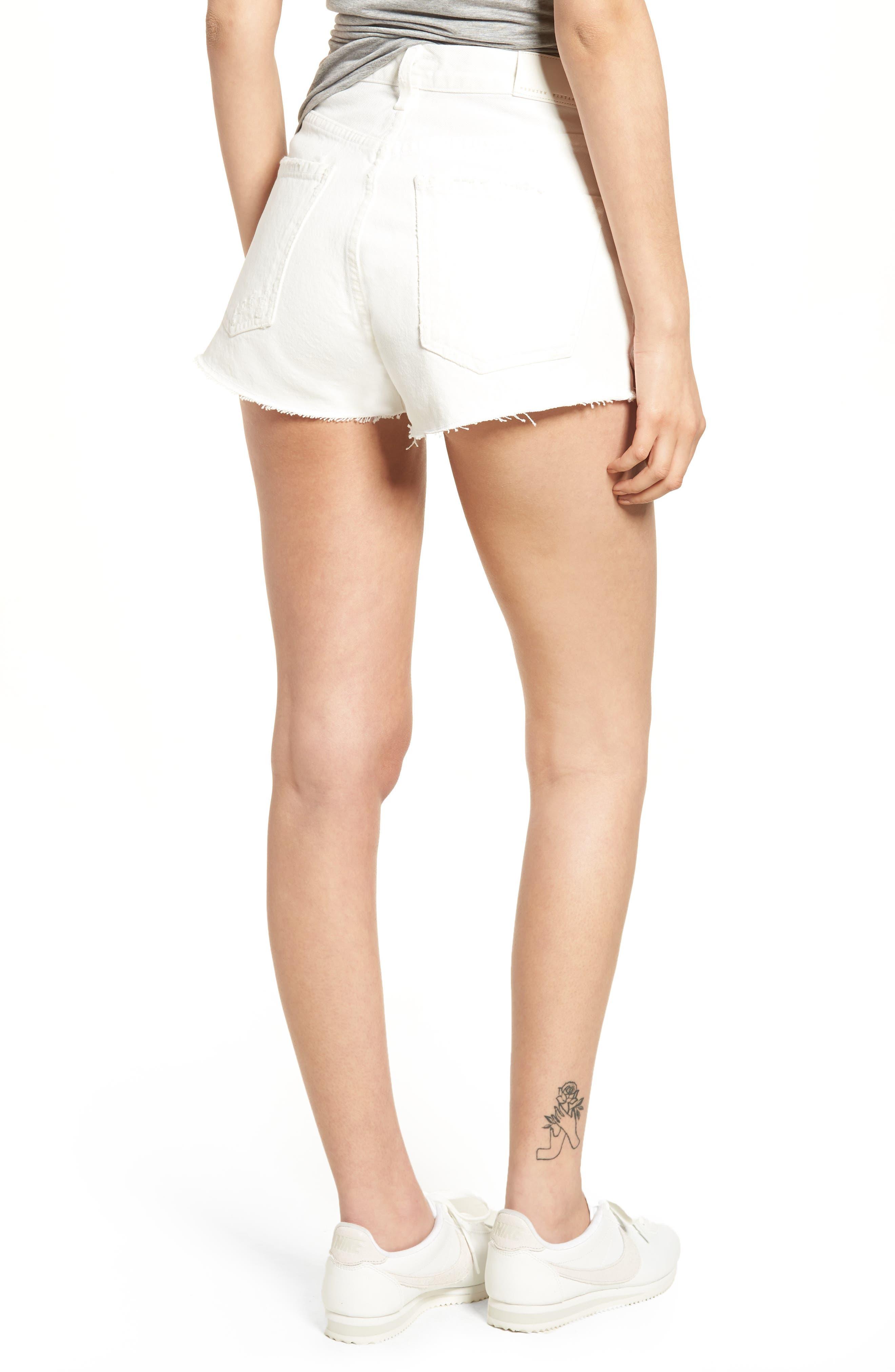 Danielle Cutoff Denim Shorts,                             Alternate thumbnail 2, color,