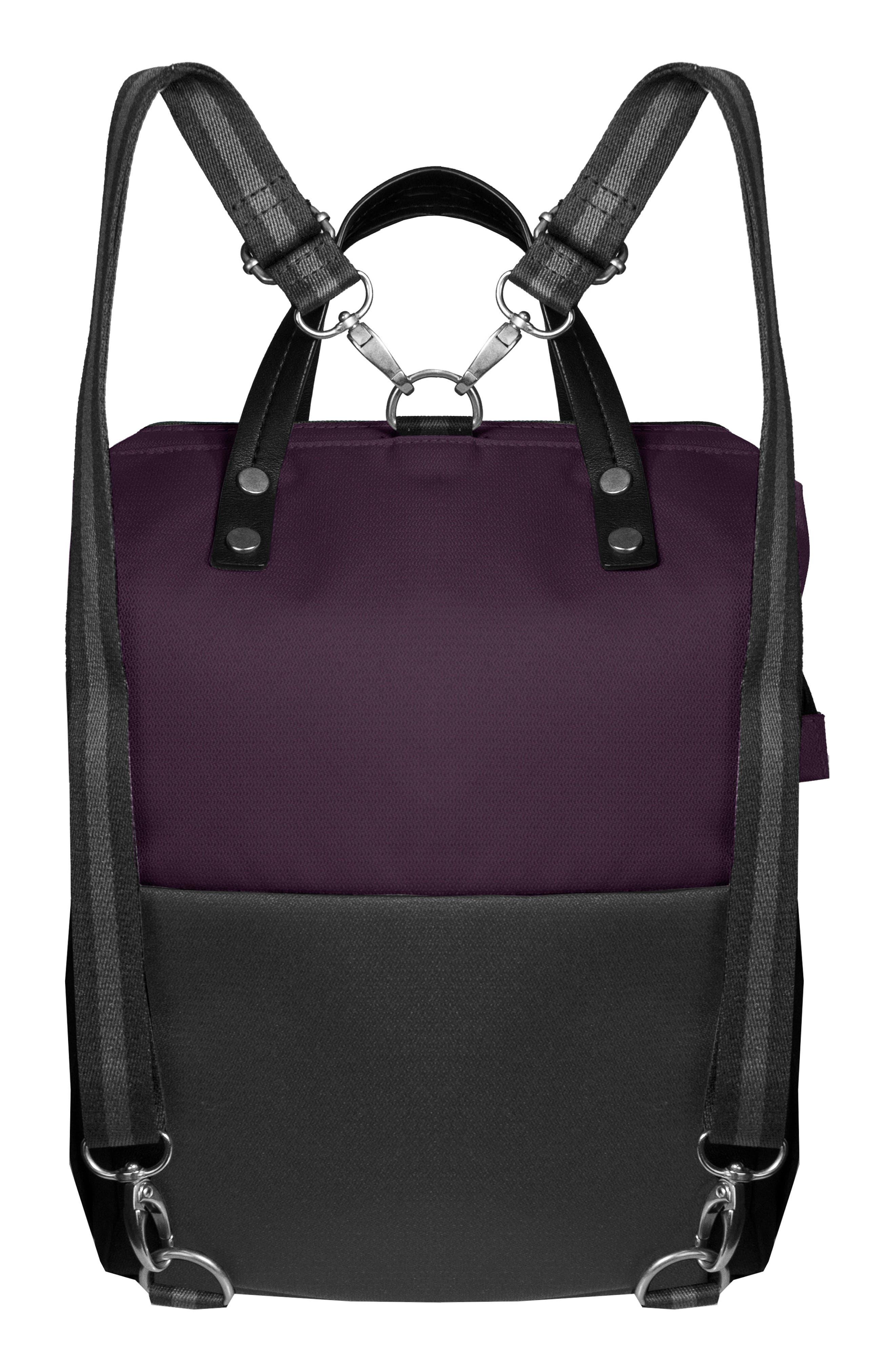 Dispatch Water Resistant RFID Pocket Convertible Backpack,                             Alternate thumbnail 2, color,                             DAHLIA/ FLINT