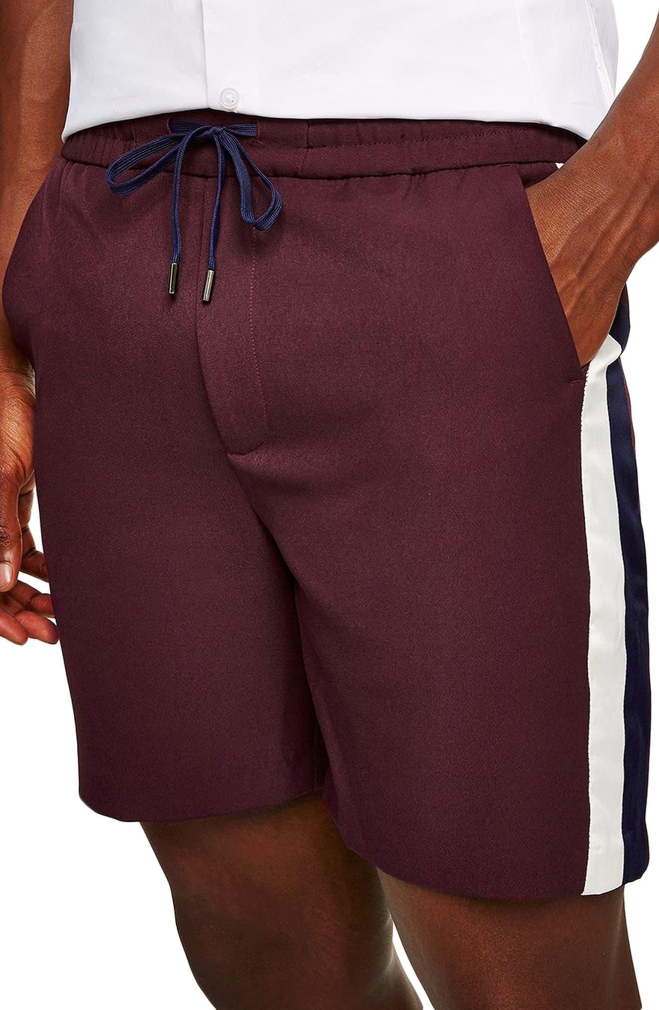 Satin Stripe Shorts,                             Alternate thumbnail 3, color,                             500