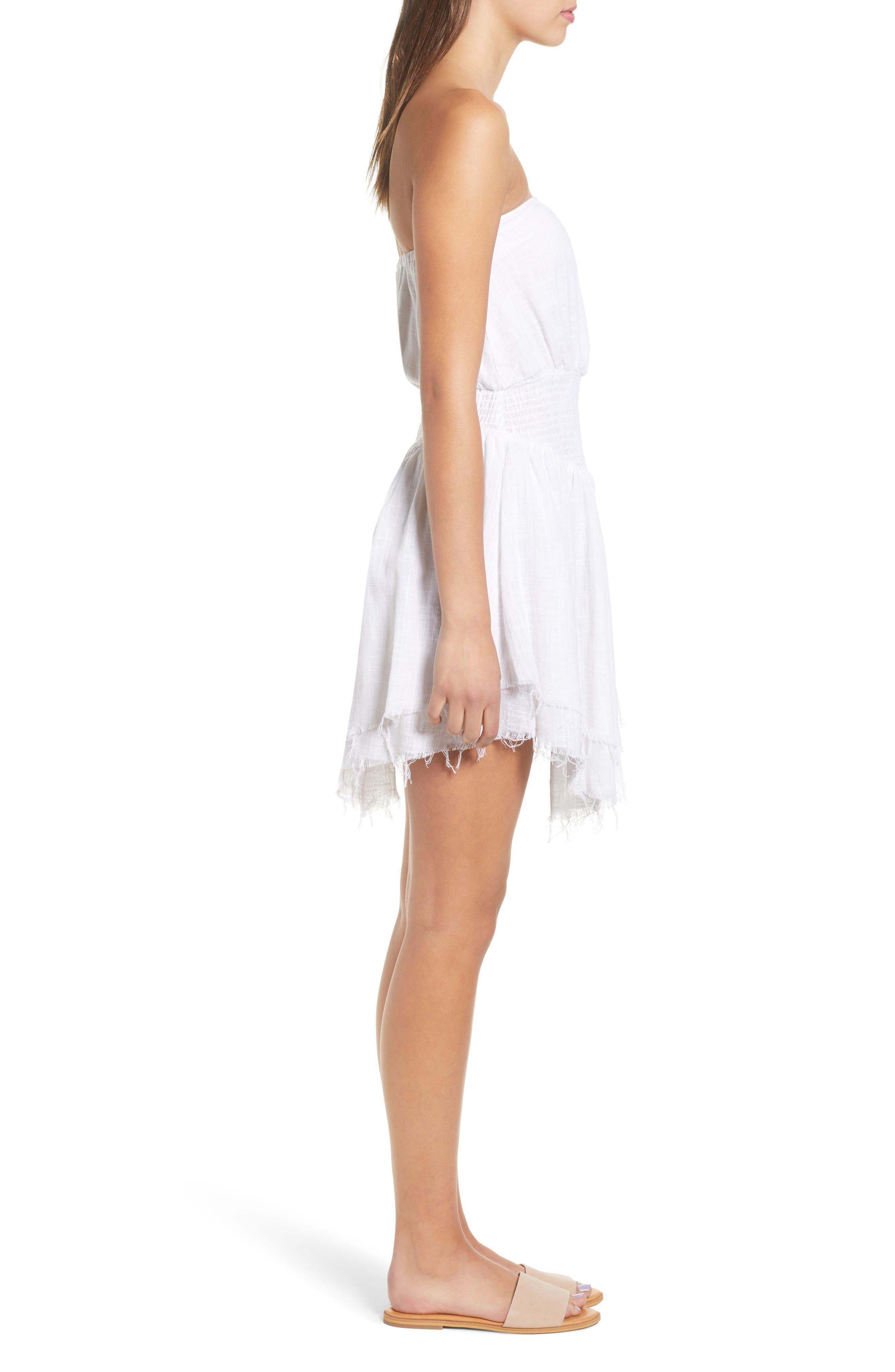 Lucid Dreaming Strapless Minidress,                             Alternate thumbnail 3, color,