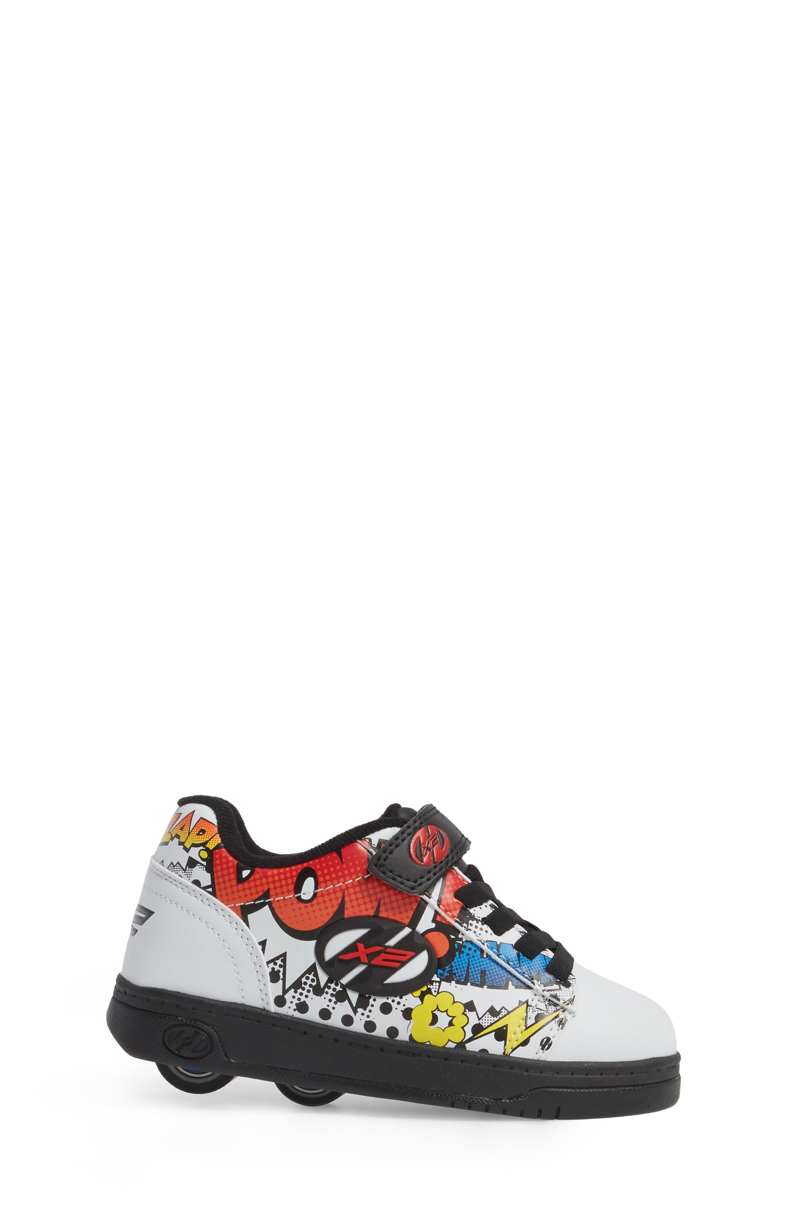 Dual Up X2 Comic Sneaker,                             Alternate thumbnail 3, color,                             WHITE/ BLACK/ MULTI COMIC