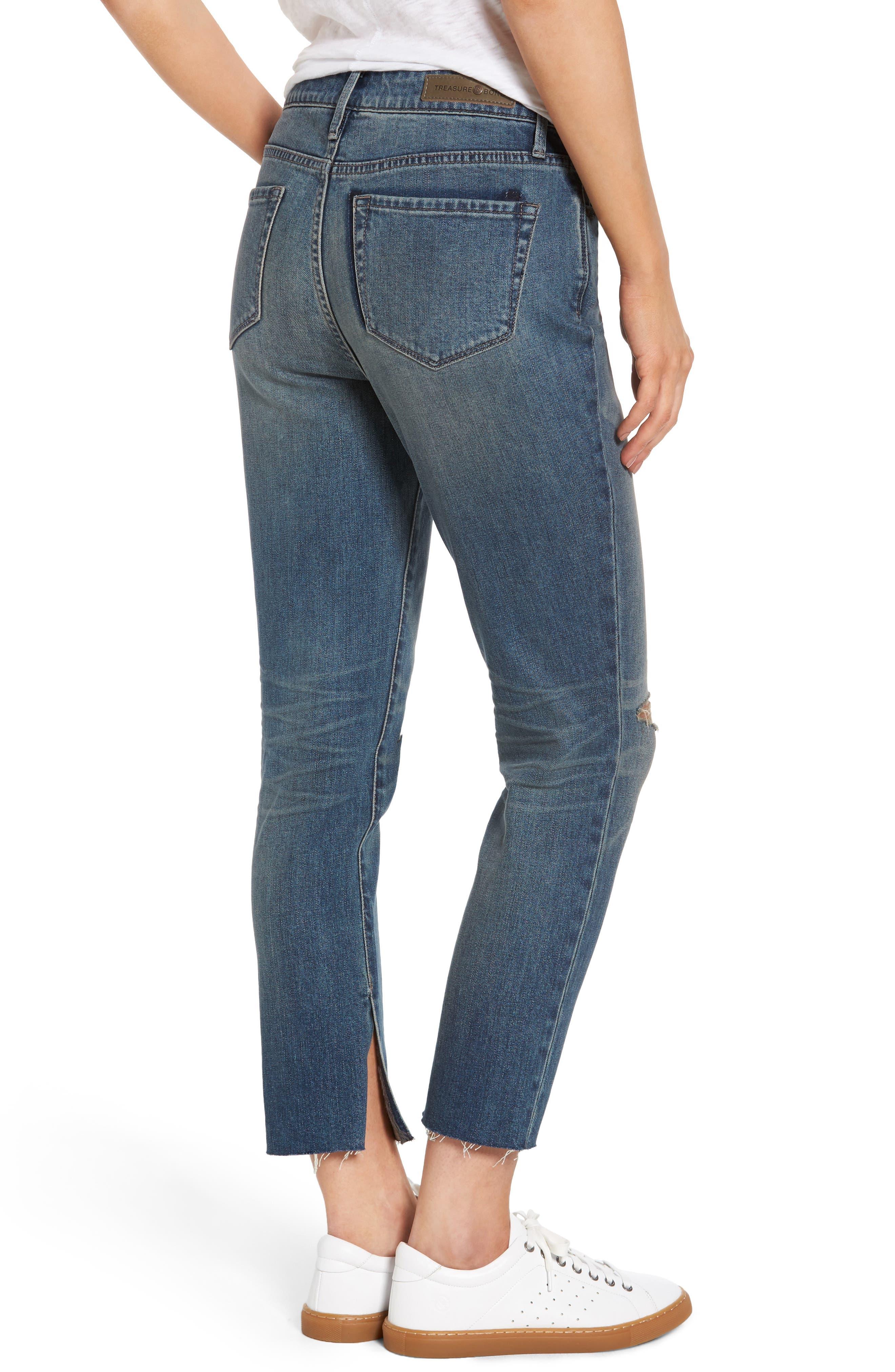 High Waist Skinny Crop Jeans,                             Alternate thumbnail 2, color,                             400