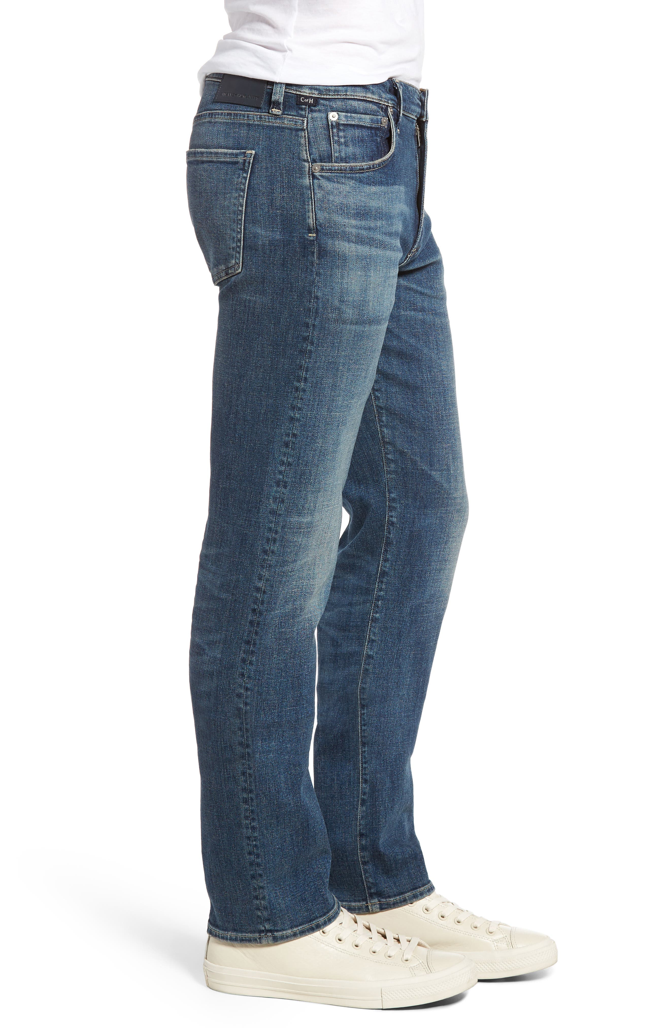 Sid Straight Leg Jeans,                             Alternate thumbnail 3, color,                             REDFORD