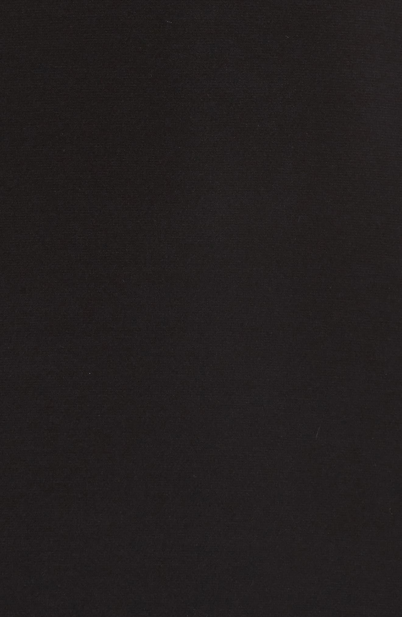 Illusion Waist Jersey Halter Dress,                             Alternate thumbnail 5, color,                             001