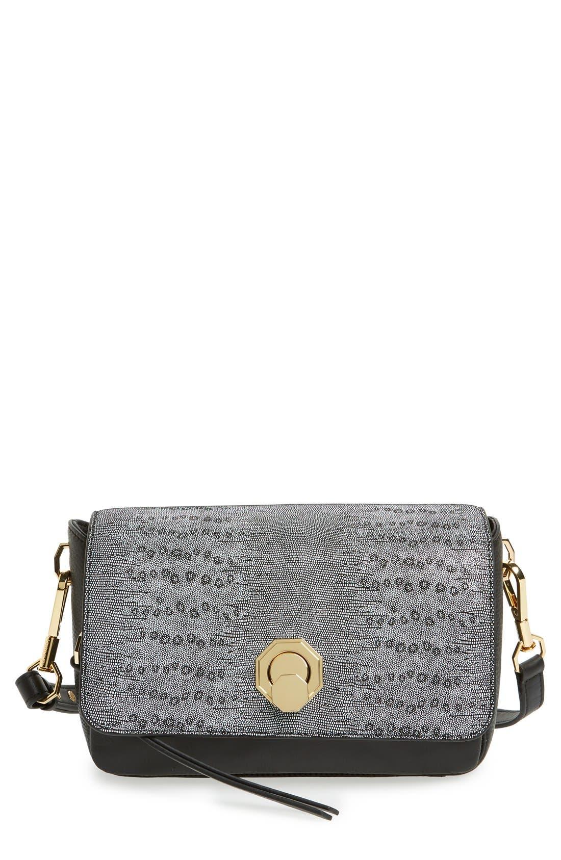 'Small Alis' Leather Crossbody Bag,                             Main thumbnail 1, color,                             001