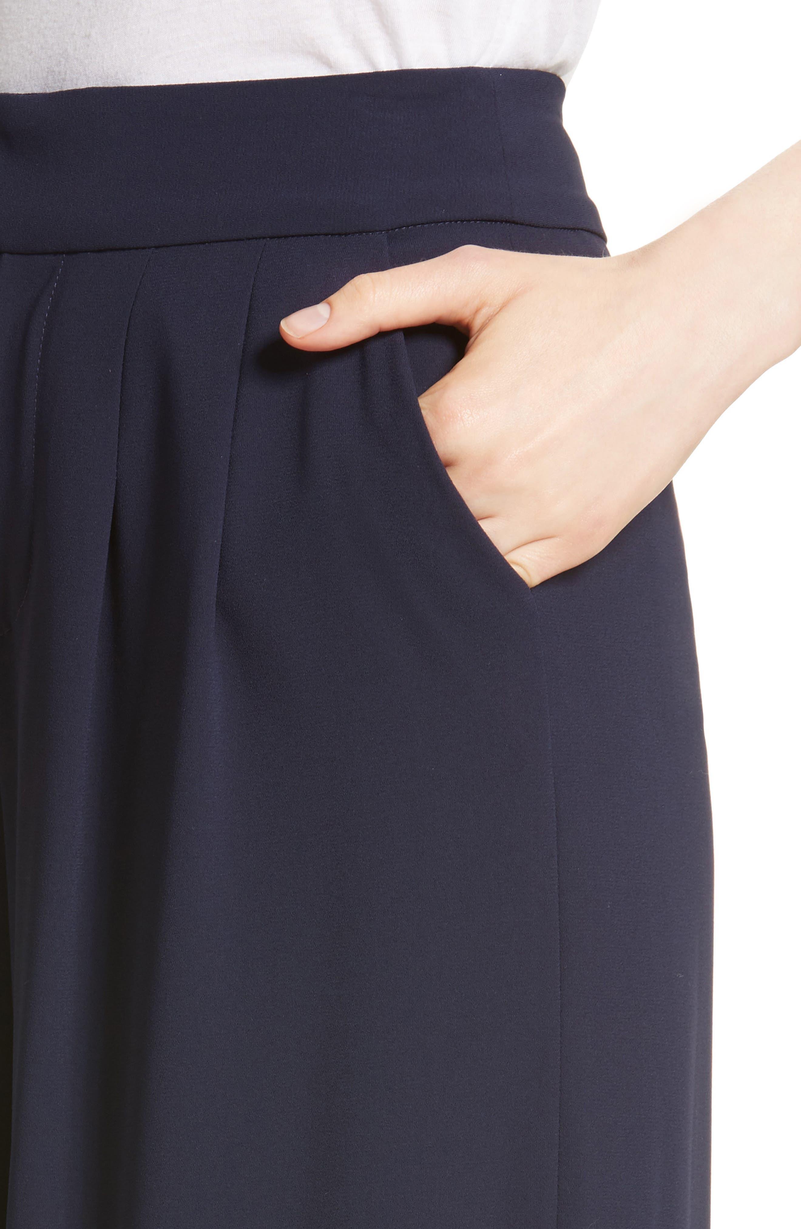 Shavon High Waist Side Slit Flare Pants,                             Alternate thumbnail 4, color,                             400