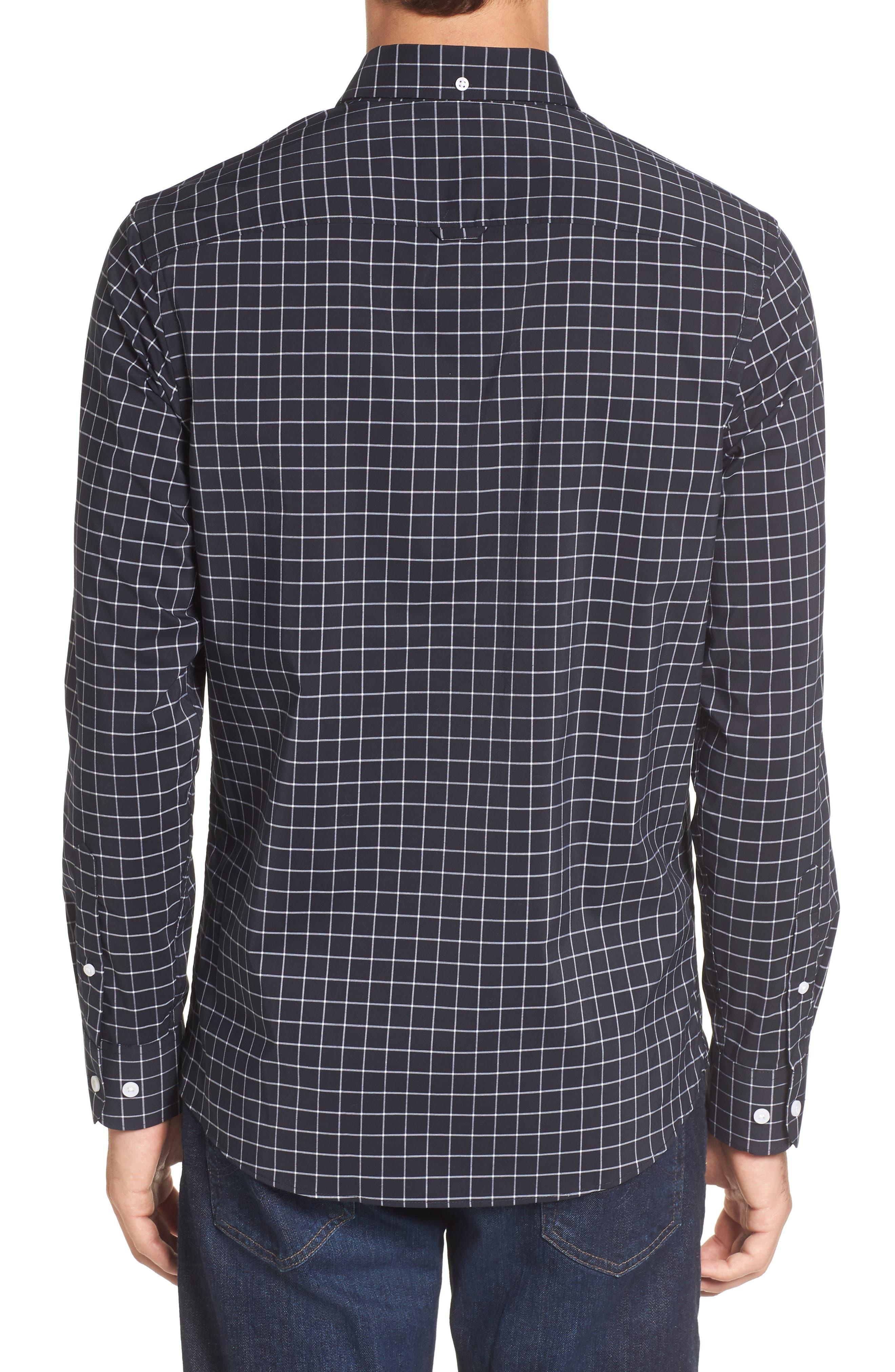Slim Fit Tech-Smart Grid Sport Shirt,                             Alternate thumbnail 2, color,