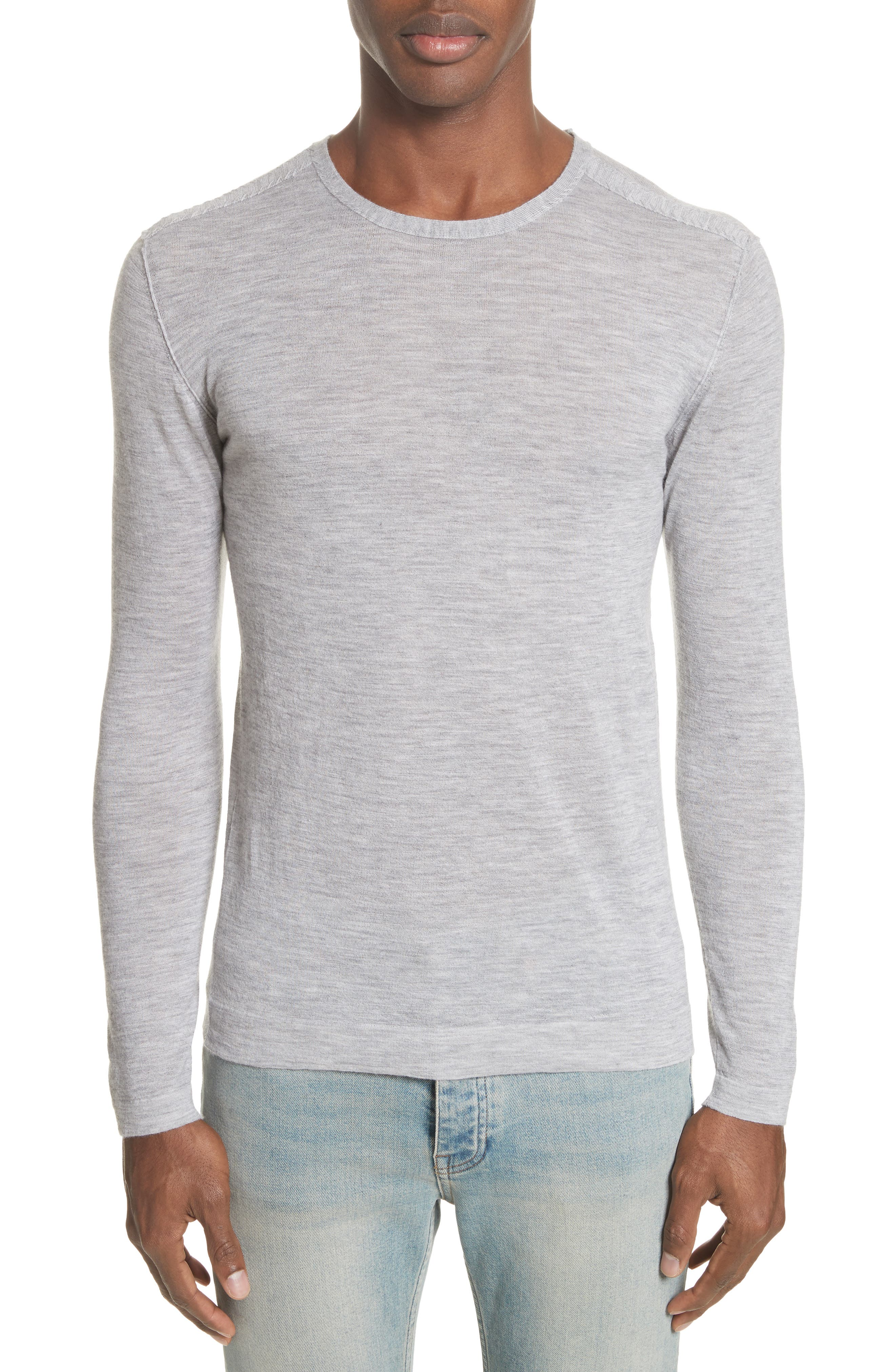 Cashmere Crewneck Sweater,                             Main thumbnail 1, color,                             055